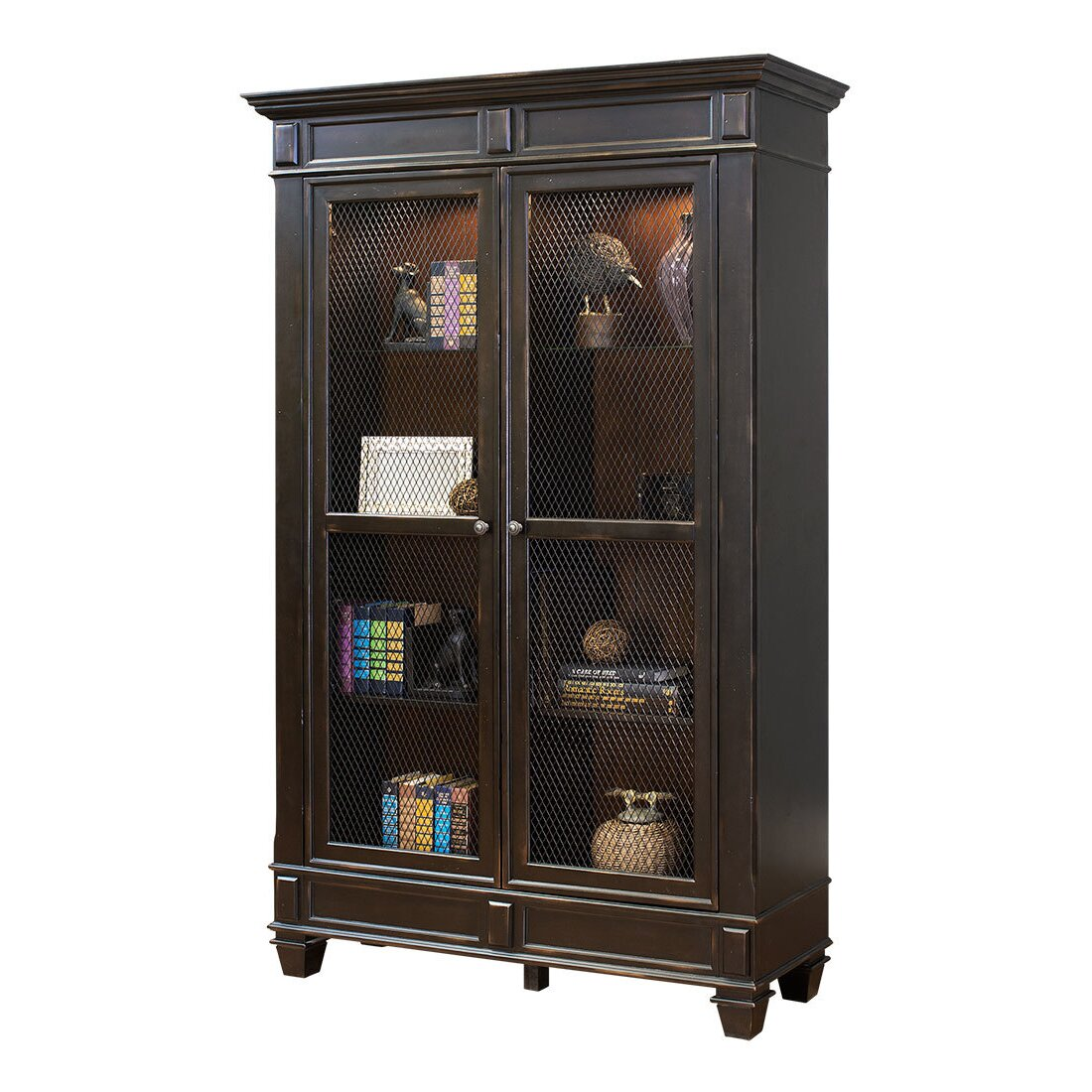 kathy ireland Home by Martin Furniture Hartford 78u0026quot; Standard Bookcase u0026 Reviews : Wayfair