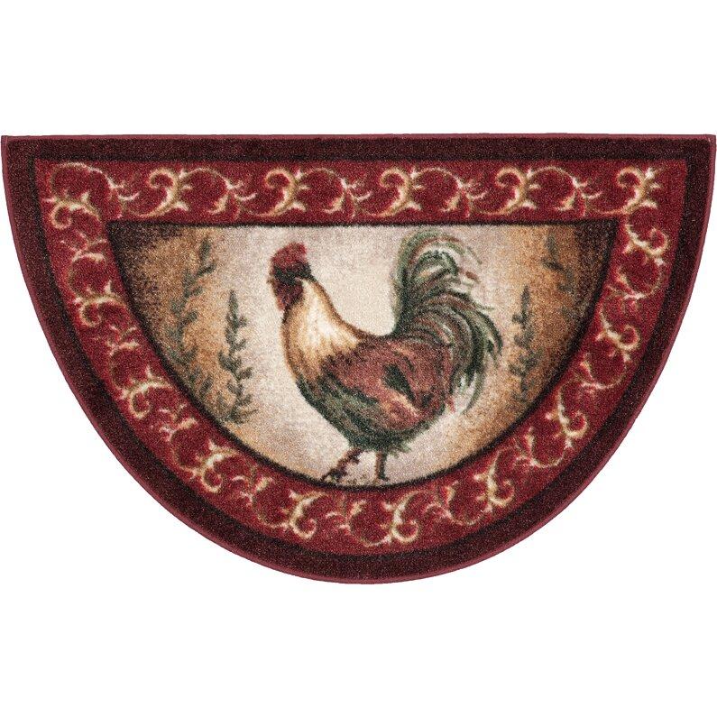 brumlow mills prancing rooster kitchen novelty rug & reviews | wayfair