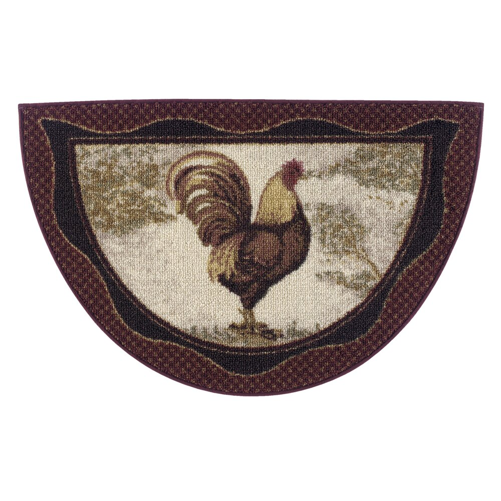 Rooster Area Rugs Kitchen Brumlow Mills Rooster Novelty Kitchen Rug Reviews Wayfair
