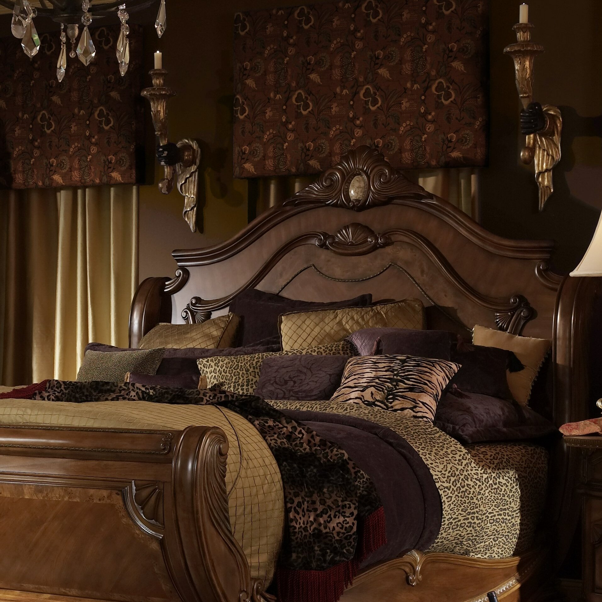 michael amini cortina panel customizable bedroom set & reviews