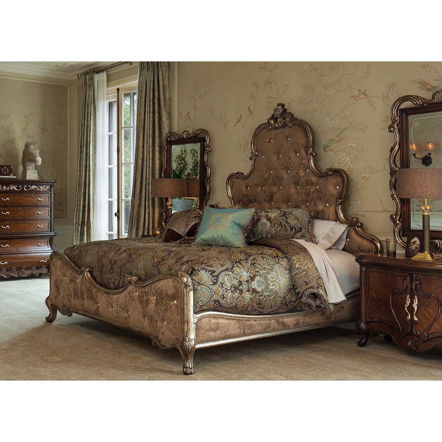Michael Amini Platine De Royale Panel Customizable Bedroom Set - Aico bedroom sets