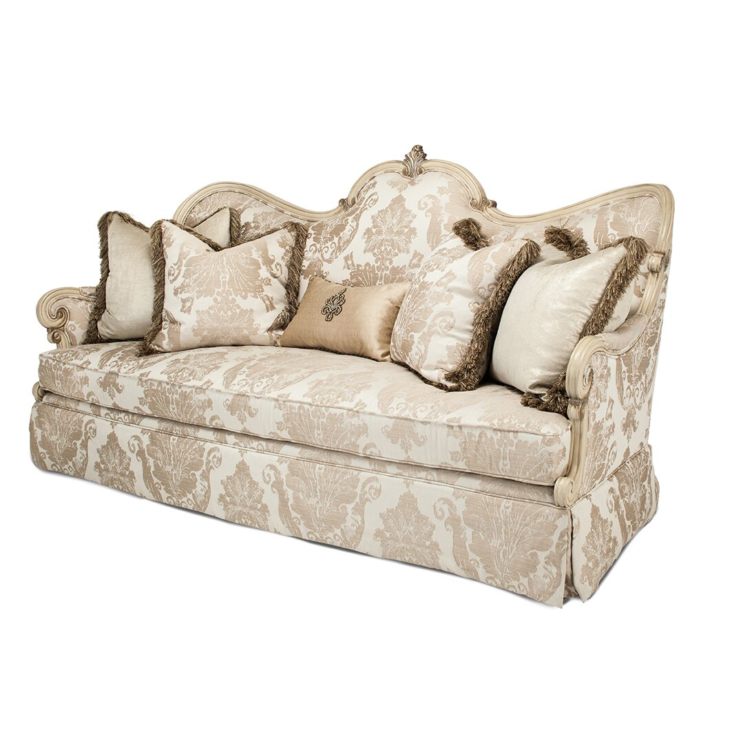 Michael Amini Living Room Furniture Michael Amini Platine De Royale Sofa Reviews Wayfair