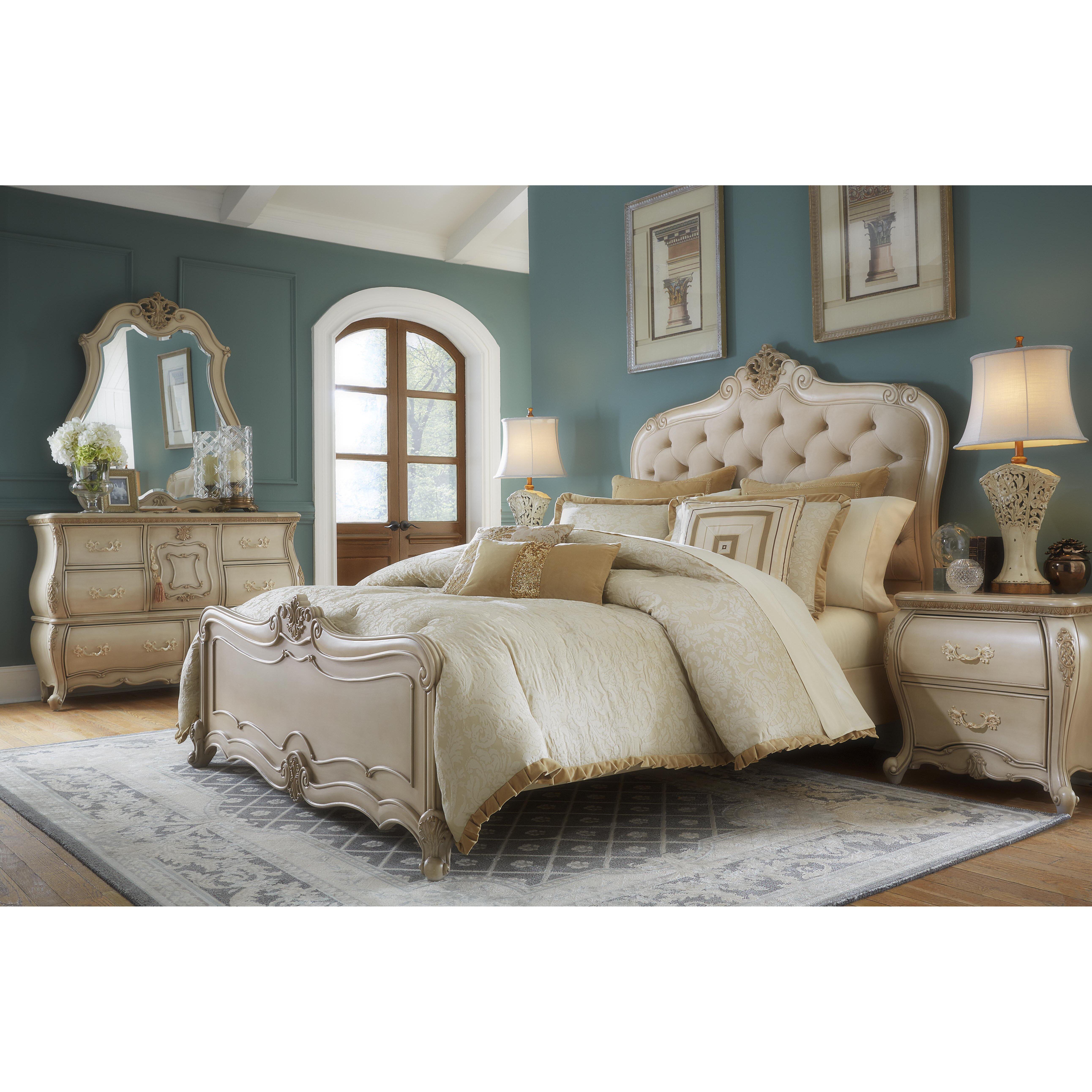Michael Amini Lavelle Panel Customizable Bedroom Set  Reviews - Aico bedroom sets