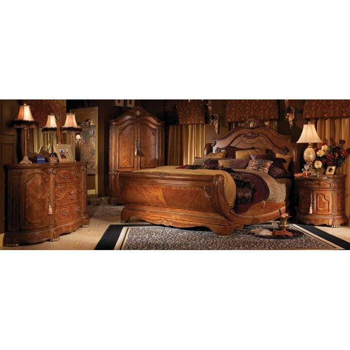 michael amini cortina panel customizable bedroom set