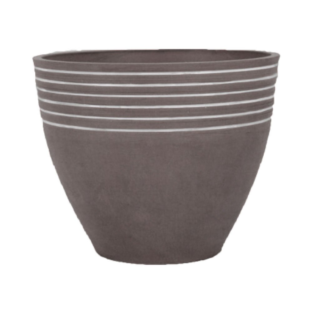 Arcadia Garden Products PSW Composite Pot Planter with Saucer