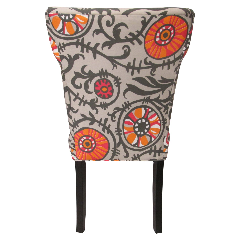 Sole Designs Willard Cotton Wingback Slipper Chair Country Kitchen Ohio