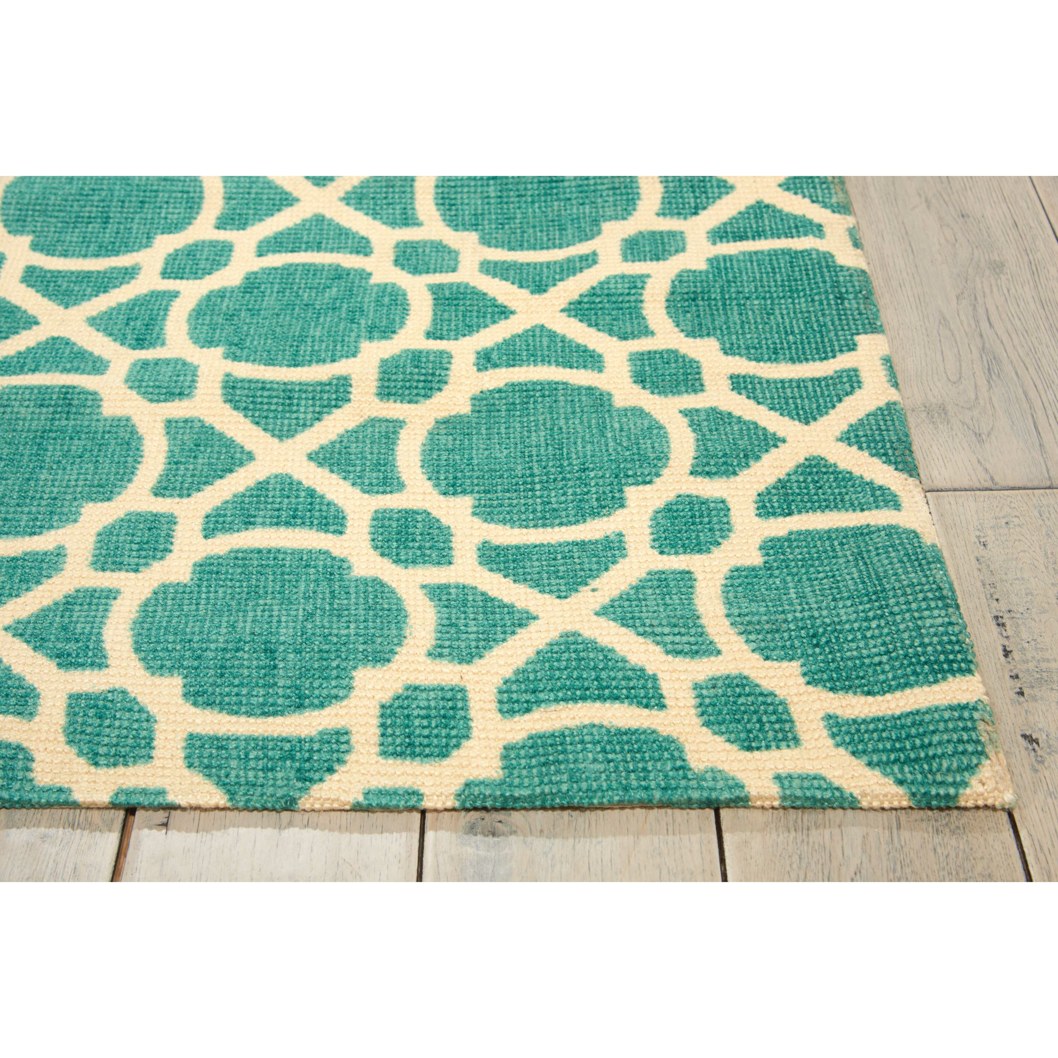 calvin klein rugs color motion teal area rug wayfair. Black Bedroom Furniture Sets. Home Design Ideas