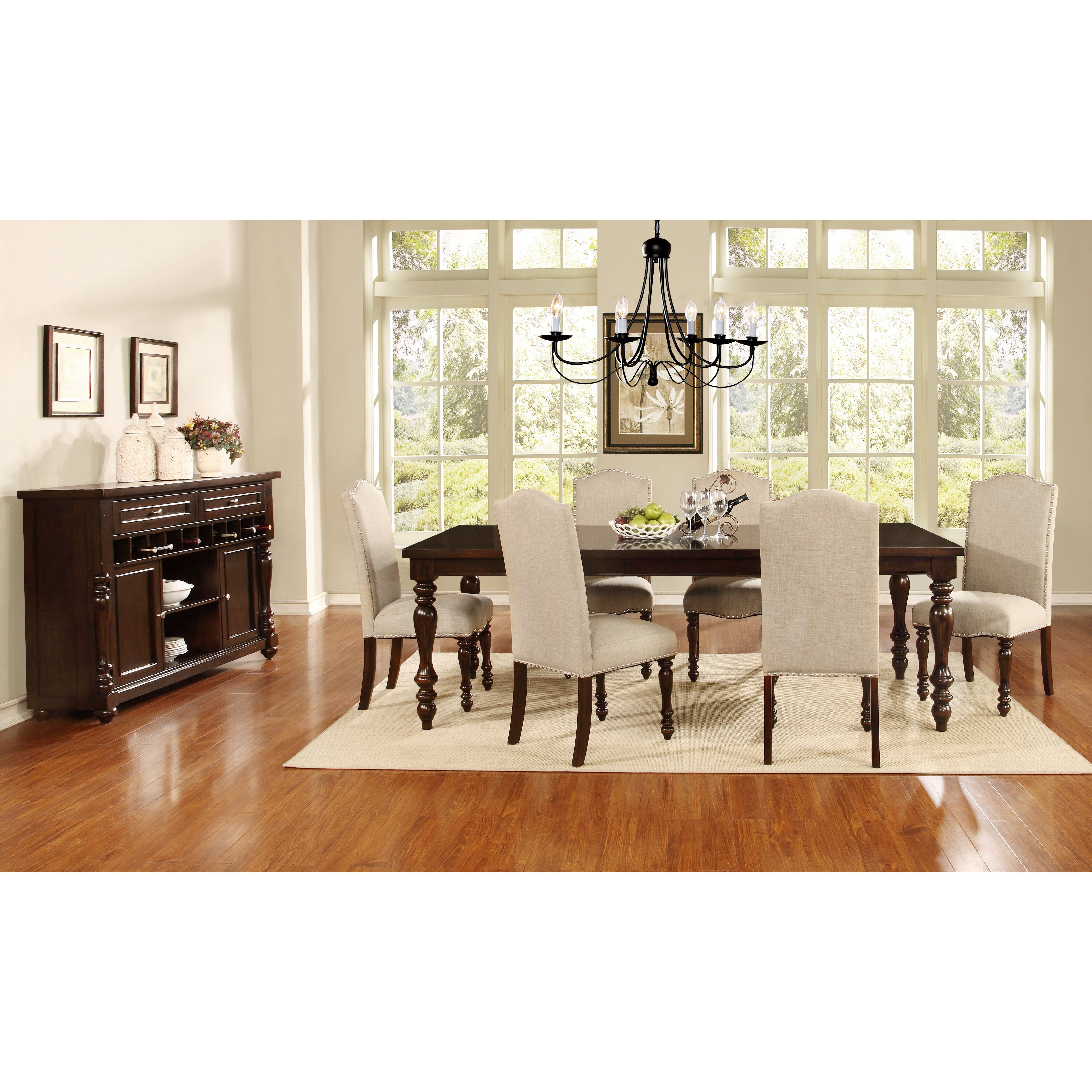 Tribecca home mackenzie 7 piece country white dining set - Quick View American Heritage 7 Piece Dining Set