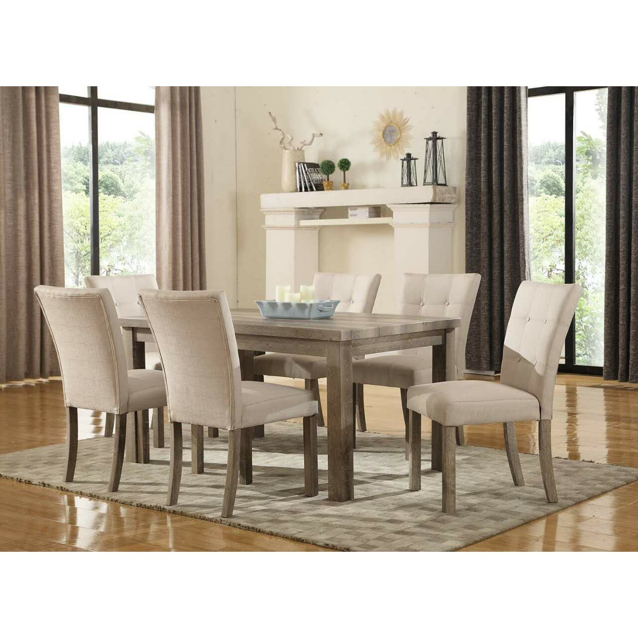 Ultimate accents urban 7 piece dining set reviews wayfair for Decor 7 piece lunch set