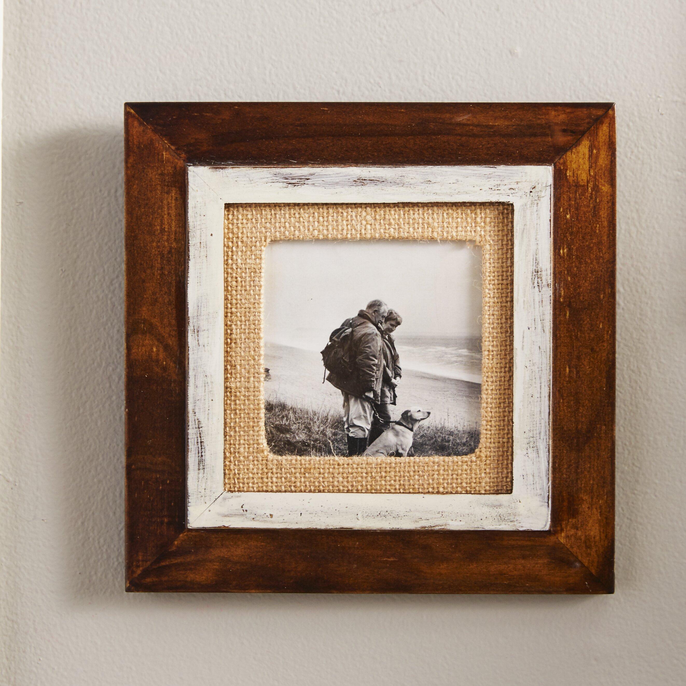 malden cedar burlap mat picture frame