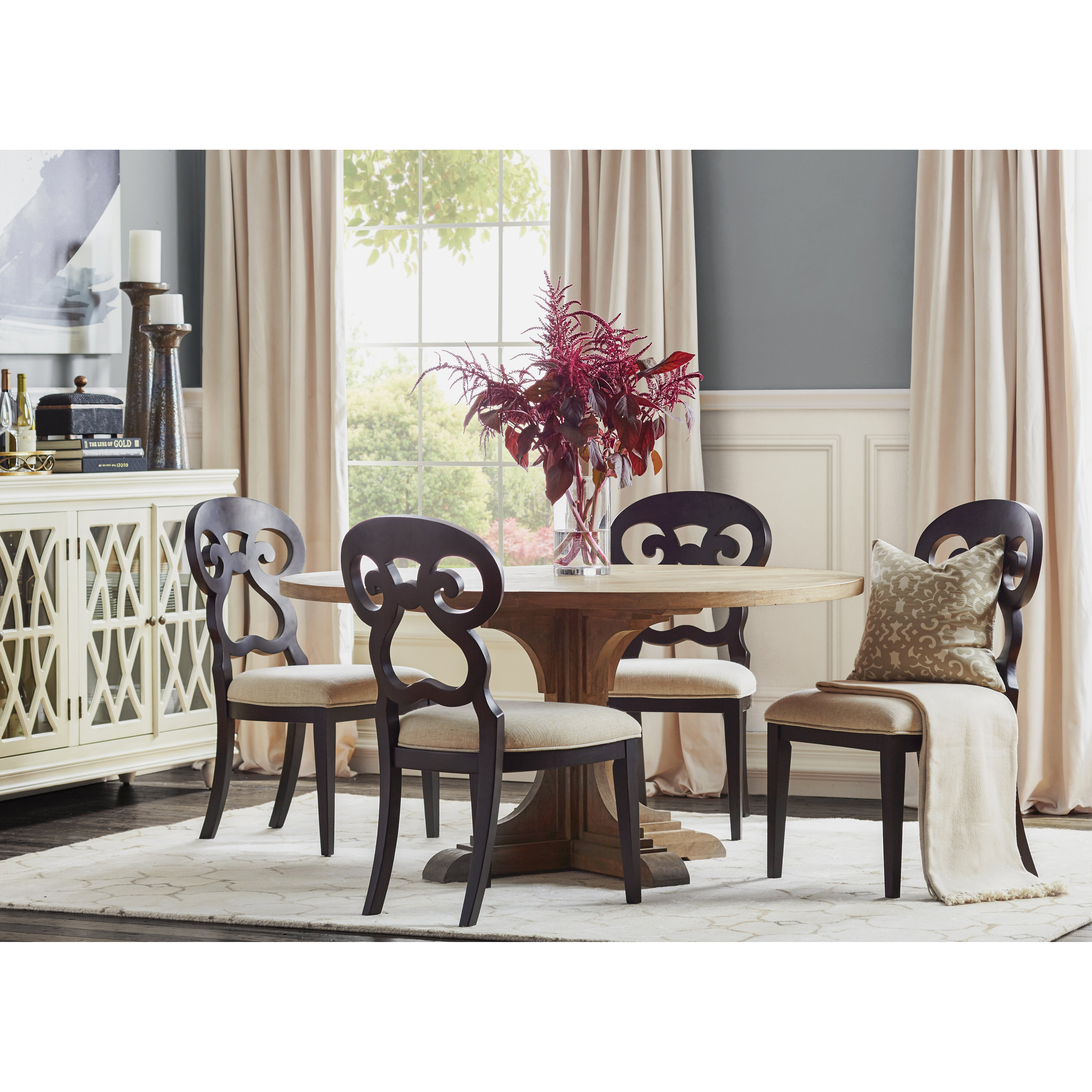 Round Country Kitchen Table Wildon Home Marie Round Dining Table Reviews Wayfair