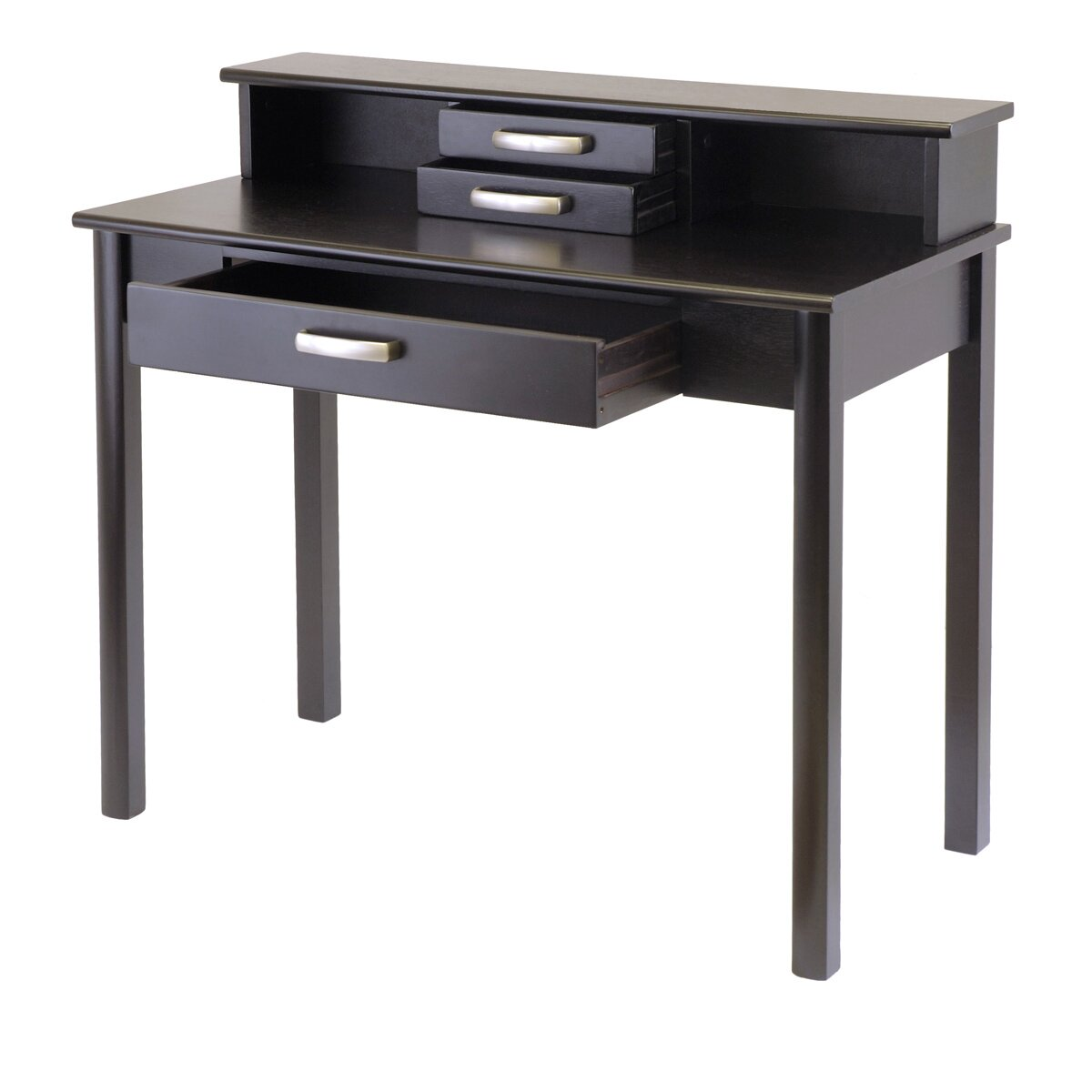 Winsome Liso Writing Desk With Hutch Amp Reviews Wayfair