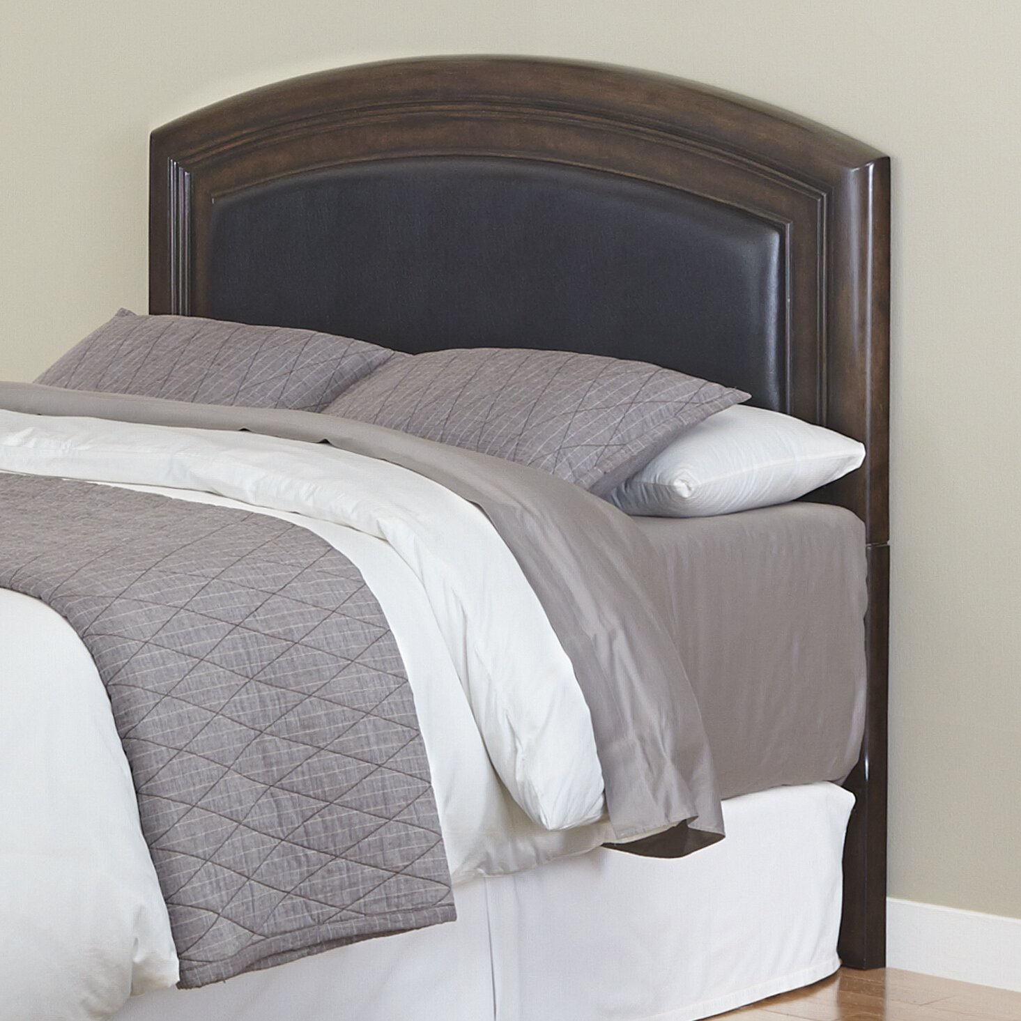 home styles crescent hill upholstered panel headboard