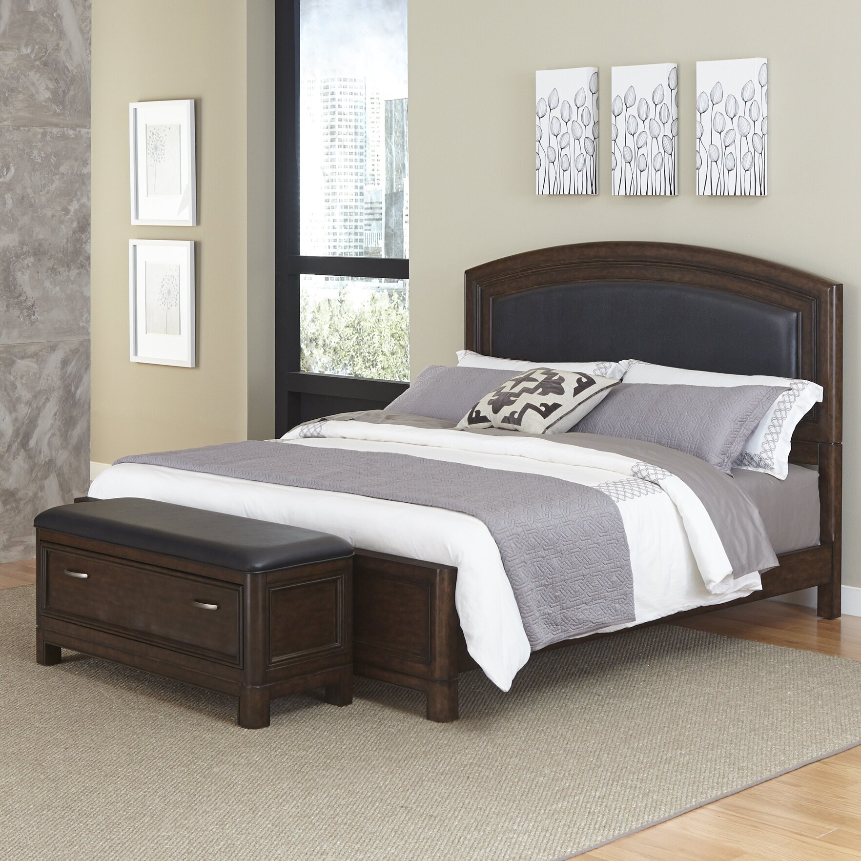 Home Styles Crescent Hill Panel 2 Piece Bedroom Set Wayfair Supply
