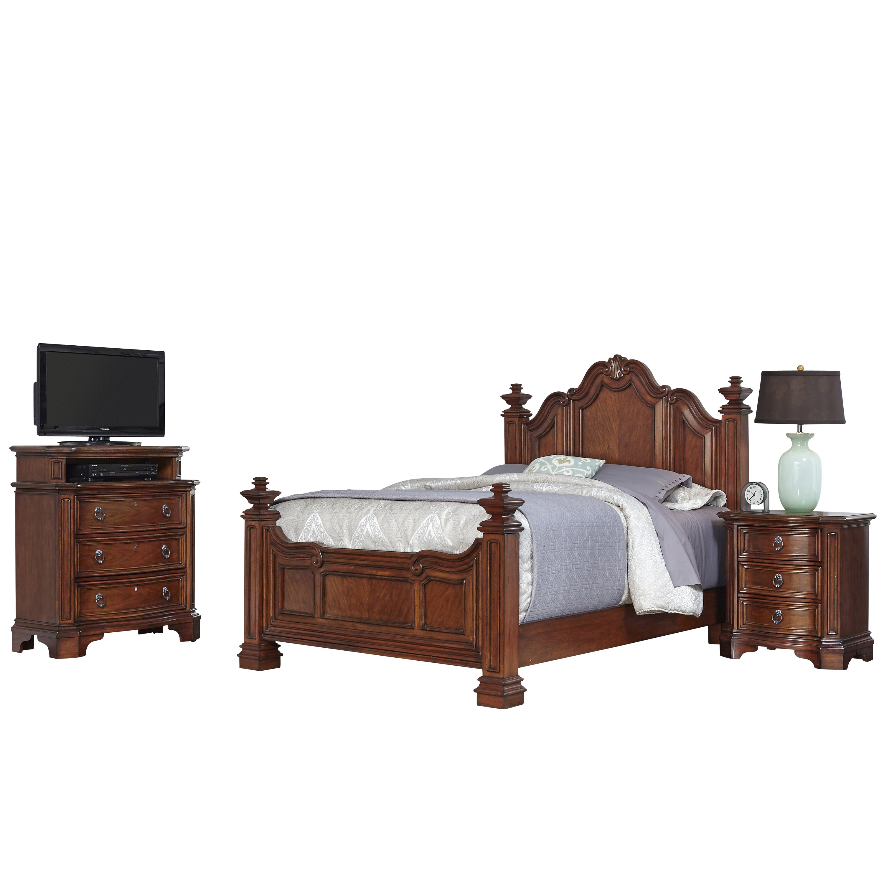 home styles santiago panel 3 piece bedroom set wayfair