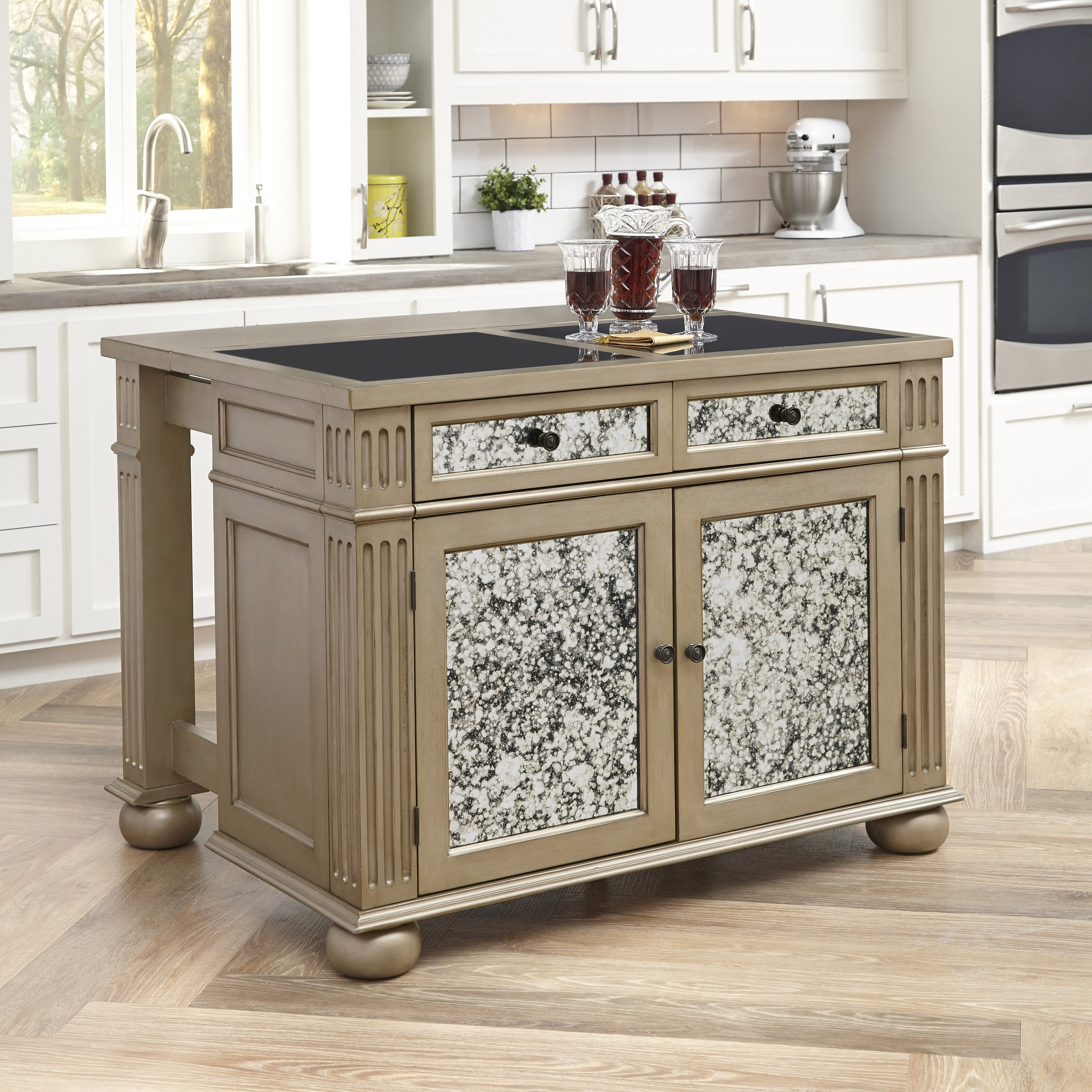 Granite Top Kitchen Granite Kitchen Islands Carts Youll Love Wayfair
