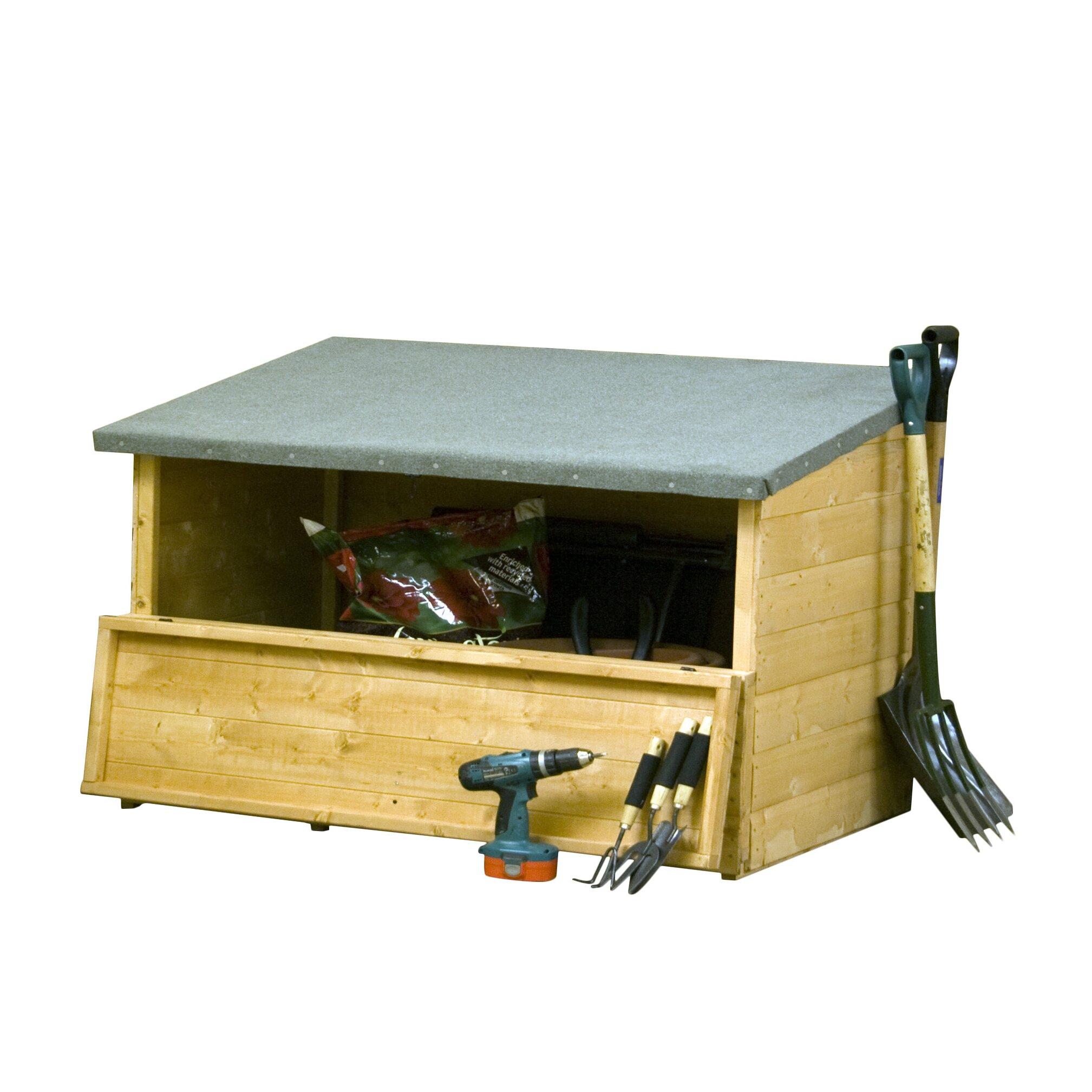 Mercia garden products shiplap garden 4 x 2 7 wooden tool for Garden shed 4 x 2