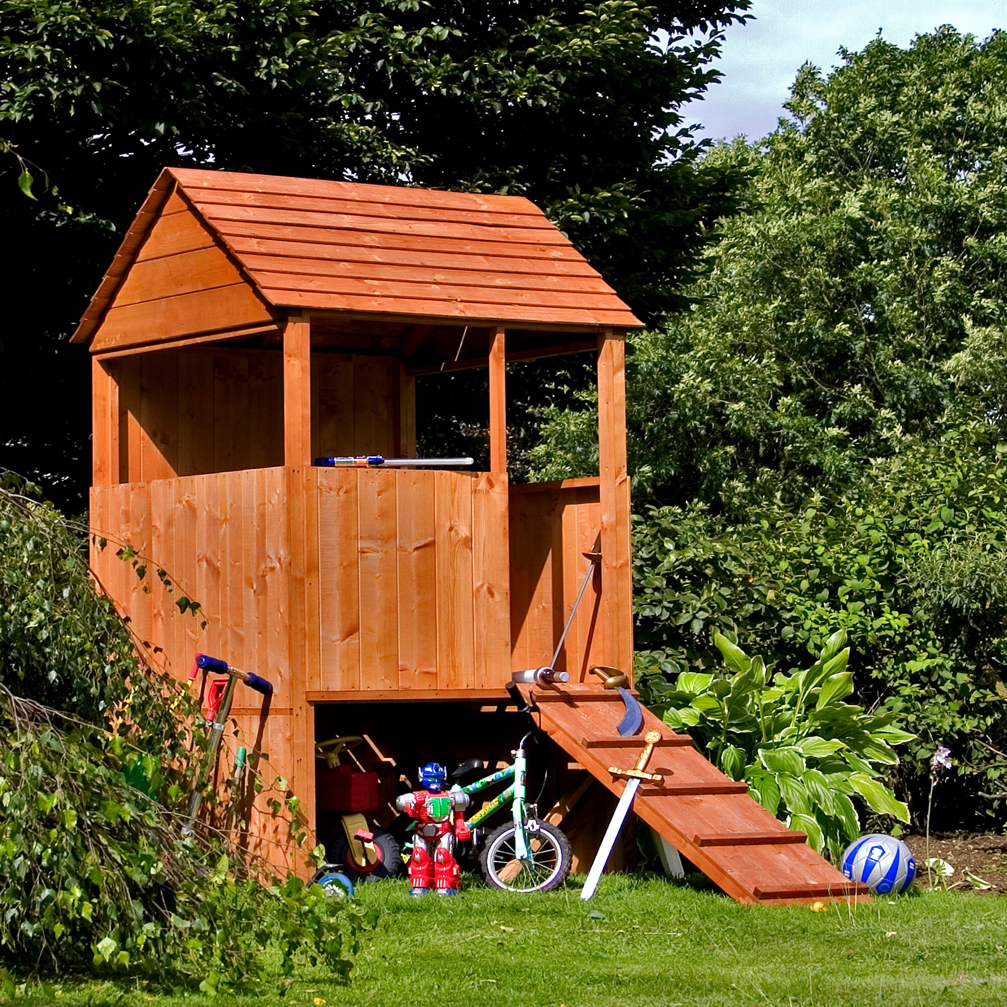 Mercia Garden Products Lookout Playhouse Wayfaircouk