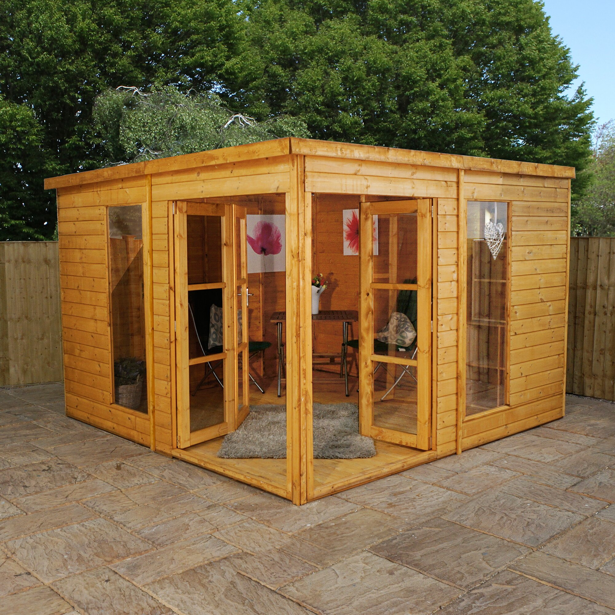 Mercia garden products 10 x 10 garden room summerhouse for Garden shed 10x10