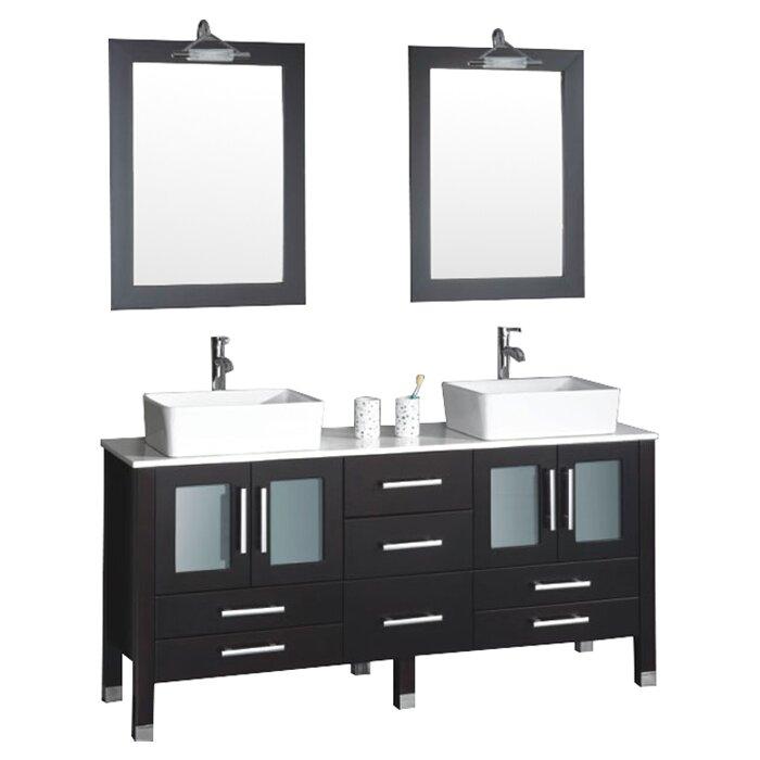 Cambridge Plumbing Aspen 63 amp quot  Double Bathroom Vanity Set with Mirror. Cambridge Plumbing Aspen 63 quot  Double Bathroom Vanity Set with