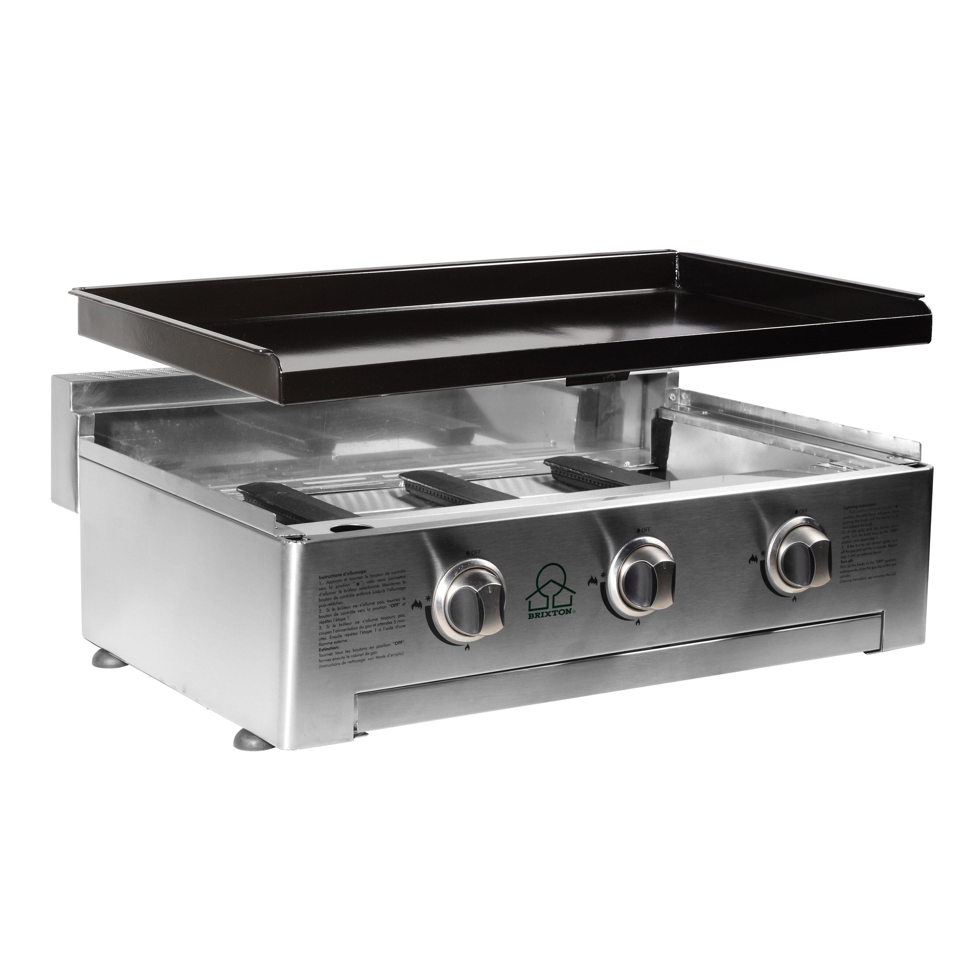 brixton 80cm 3 burner plancha gas barbecue reviews. Black Bedroom Furniture Sets. Home Design Ideas