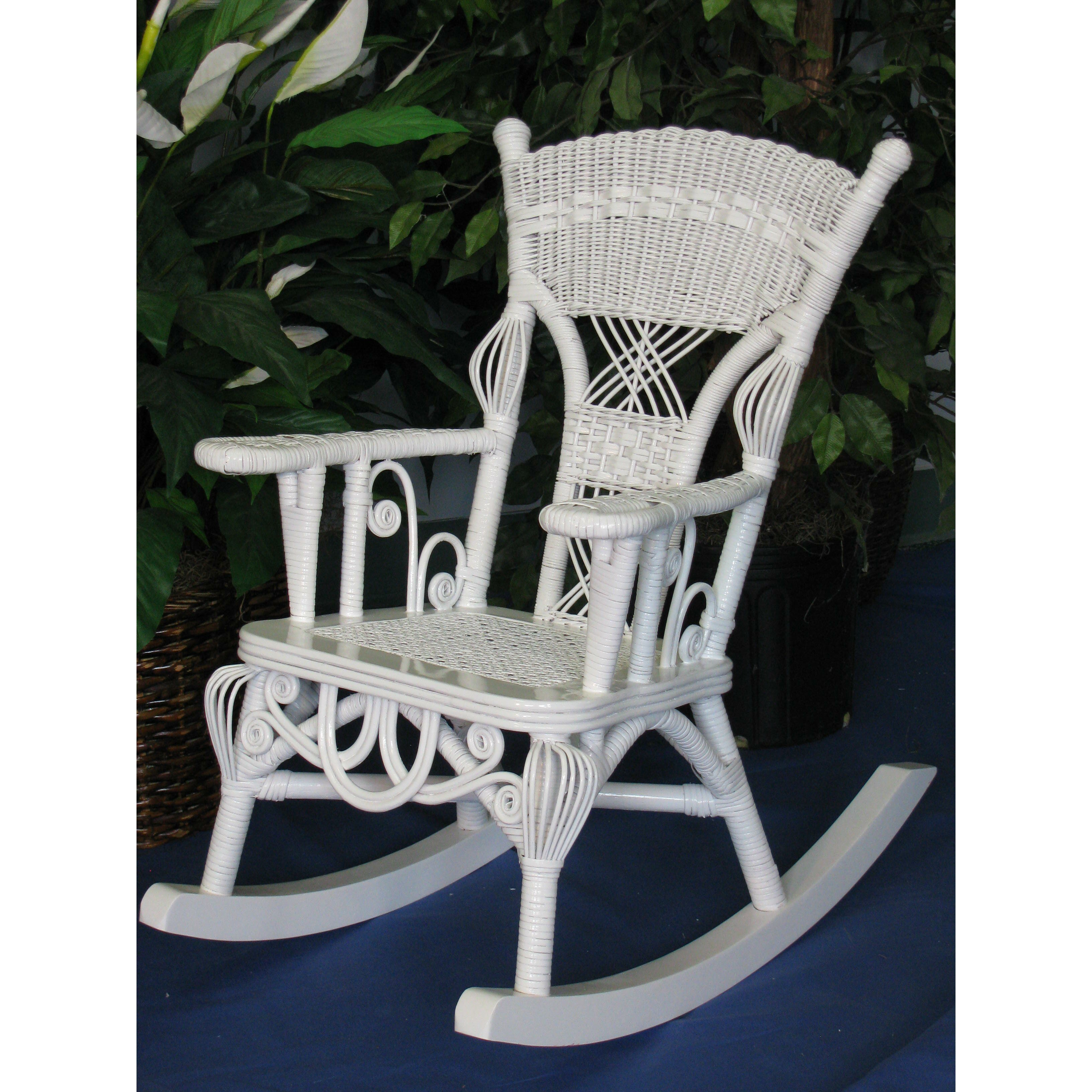 ... Yesteryear Wicker Victorian Millie Child S Cotton Rocking Chair ...