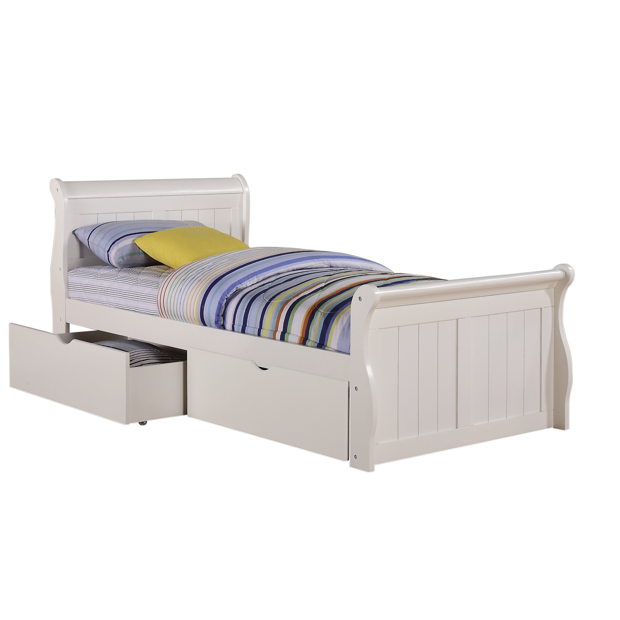 Bed frames with storage for kids - Donco Kids Sleigh Bed With Storage