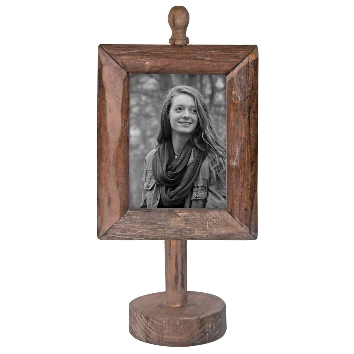Home And Garden Picture Frames : Foreside home garden wood pedestal picture frame
