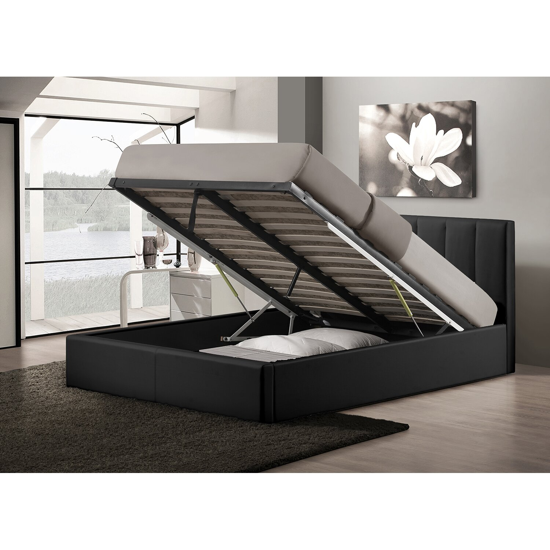 wholesale interiors baxton studio queen upholstered storage platform bed
