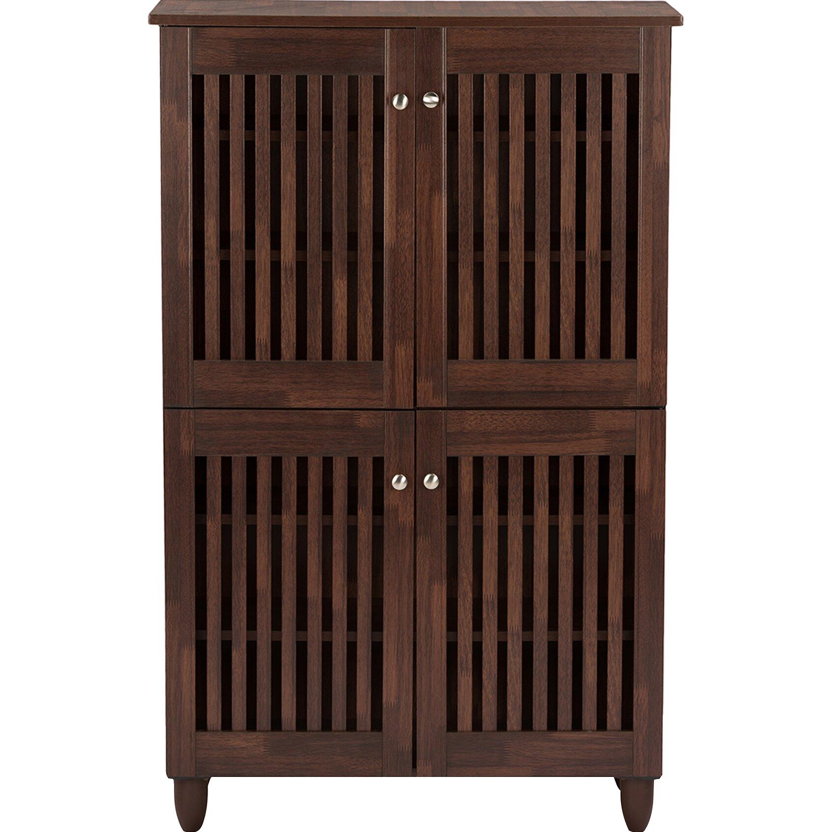 Wholesale interiors baxton studio fernanda 18 pair shoe storage cabinet reviews wayfair - How to build shoe storage cabinet ...