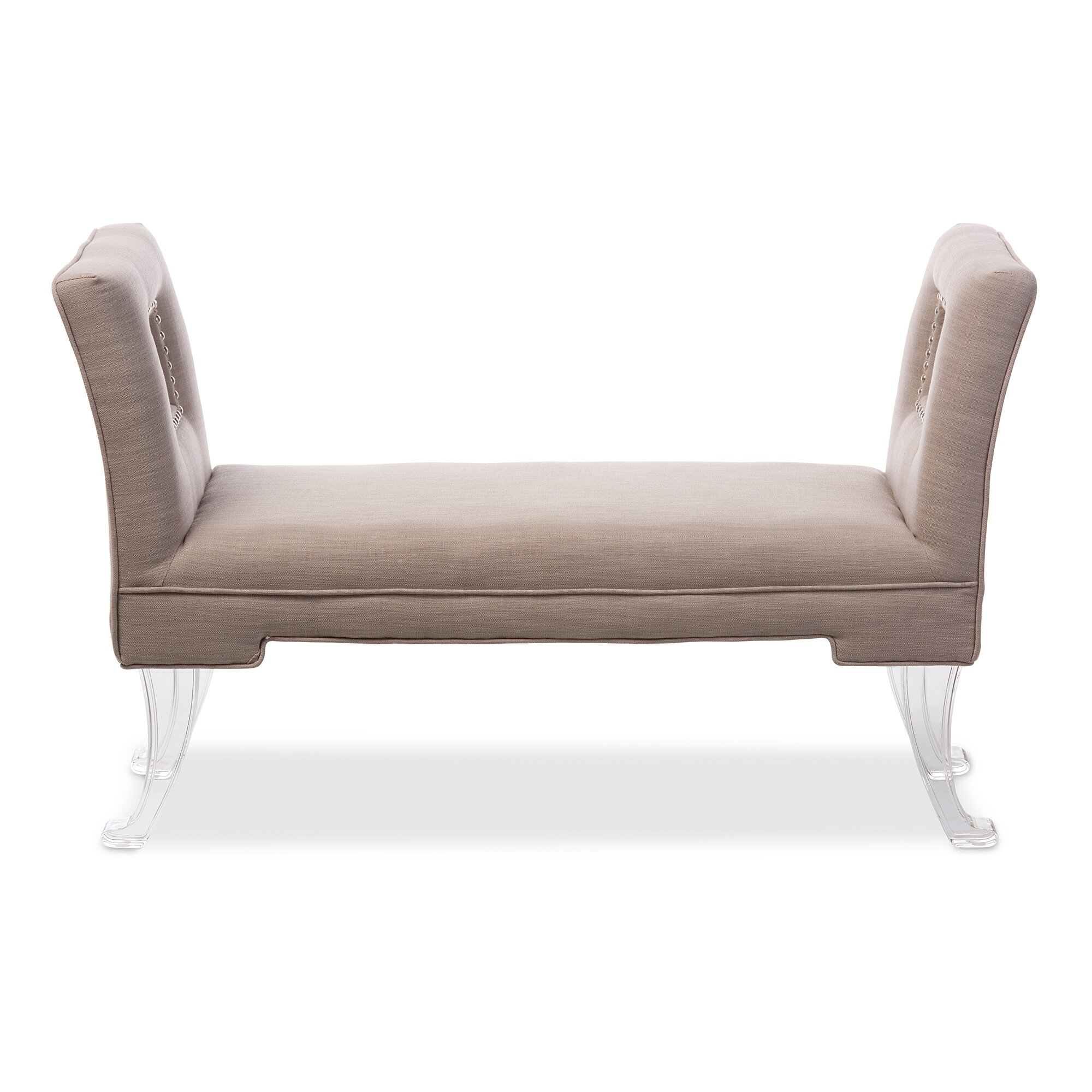 Bedroom bench with arms -  Nice Bedroom Bench With Arms Wholesale Interiors Baxton Studio Bessie Modern And Contemporary Beige Linen Upholstered