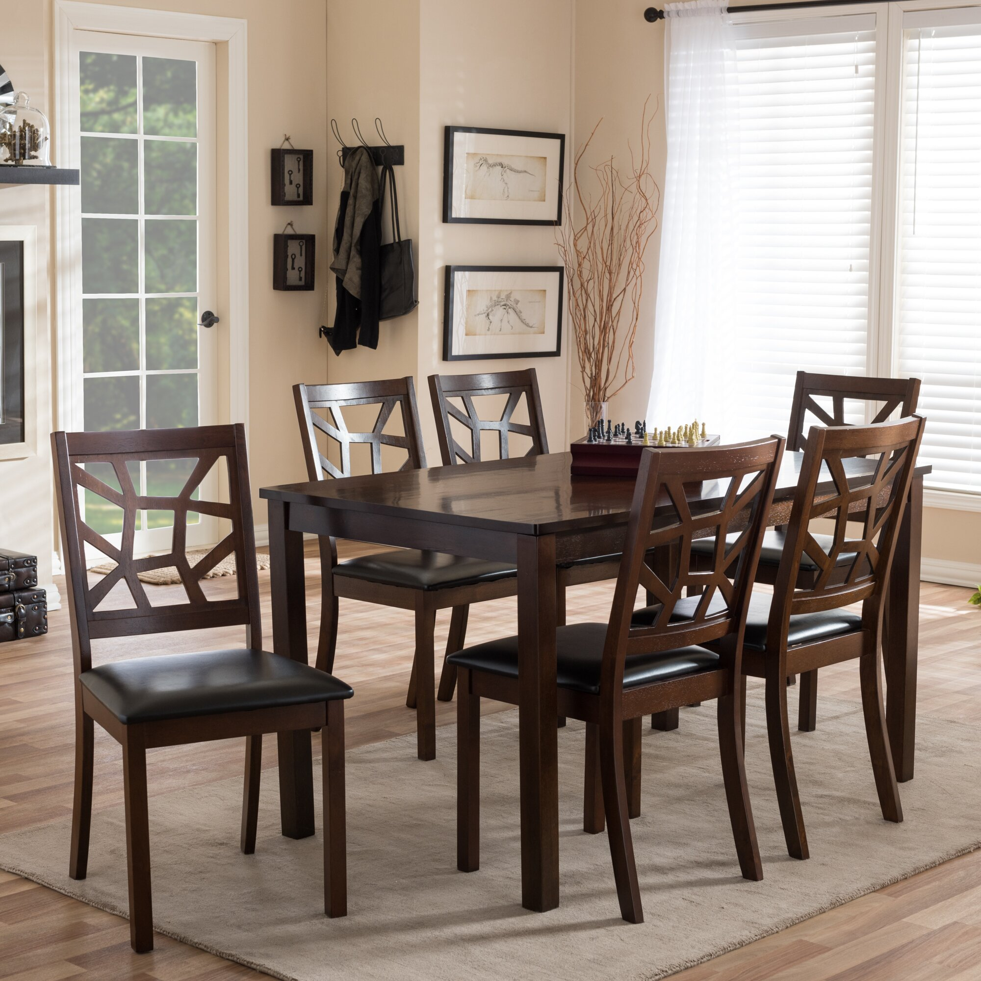 wholesale interiors baxton studio 7 piece dining set
