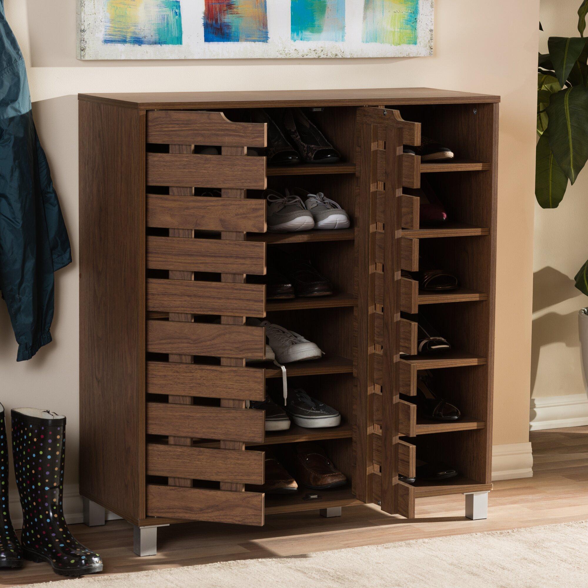 wholesale interiors baxton studio beppe 18 pair shoe storage