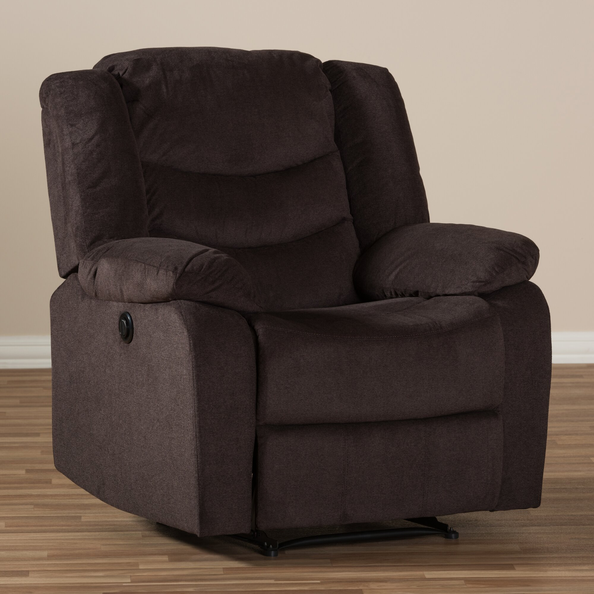 Wholesale interiors baxton studio lia fabric power for Electric recliners reviews