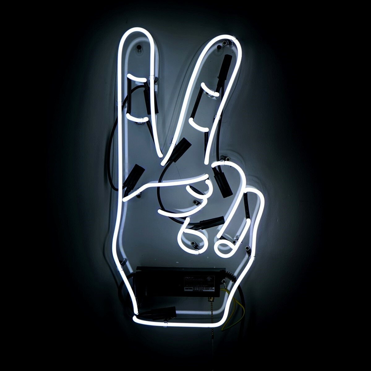 Peace Sign Bedroom Decor Oliver Gal Peace Neon Sign Reviews Wayfair