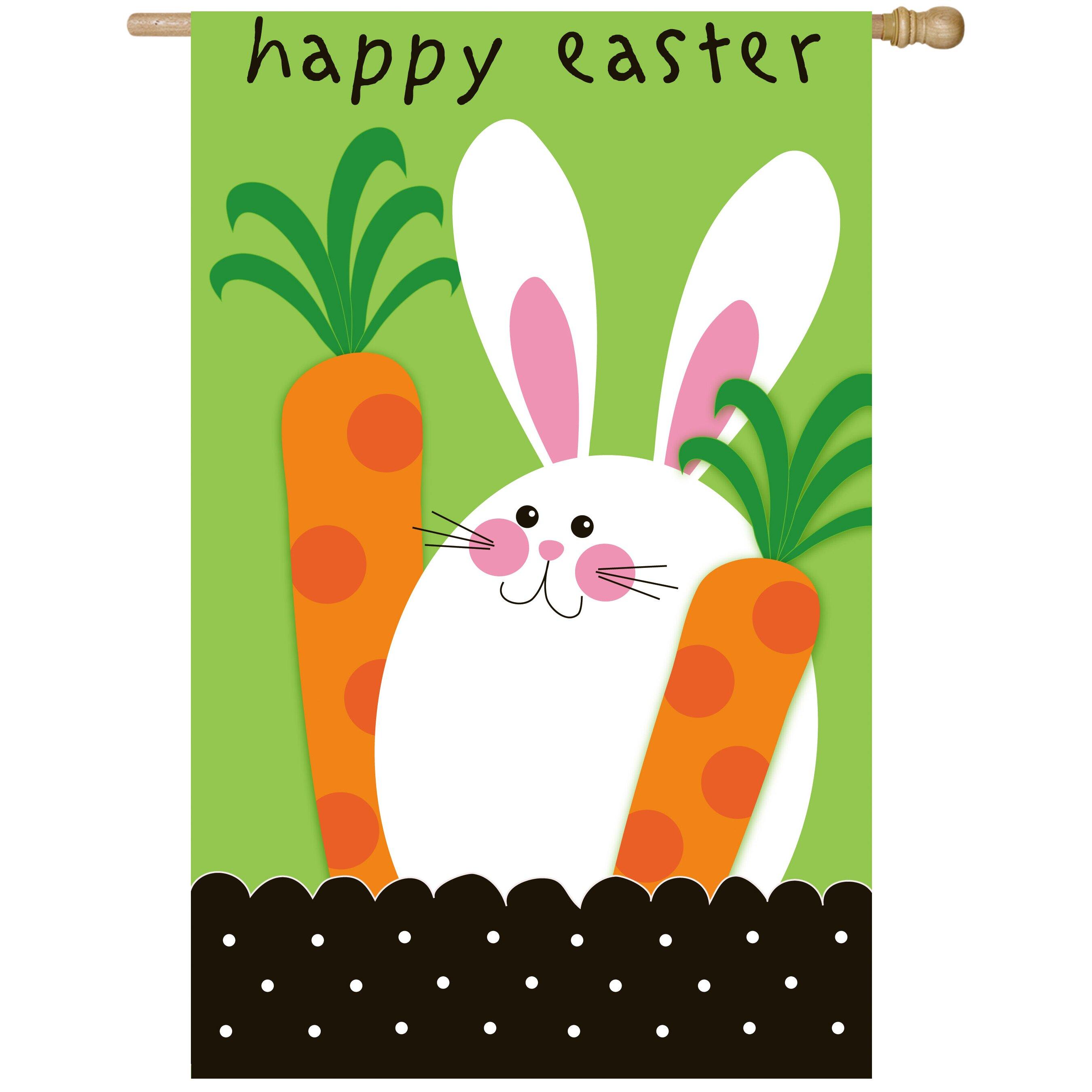 Evergreen Flag Garden Happy Easter Vertical Flag Reviews Wayfair
