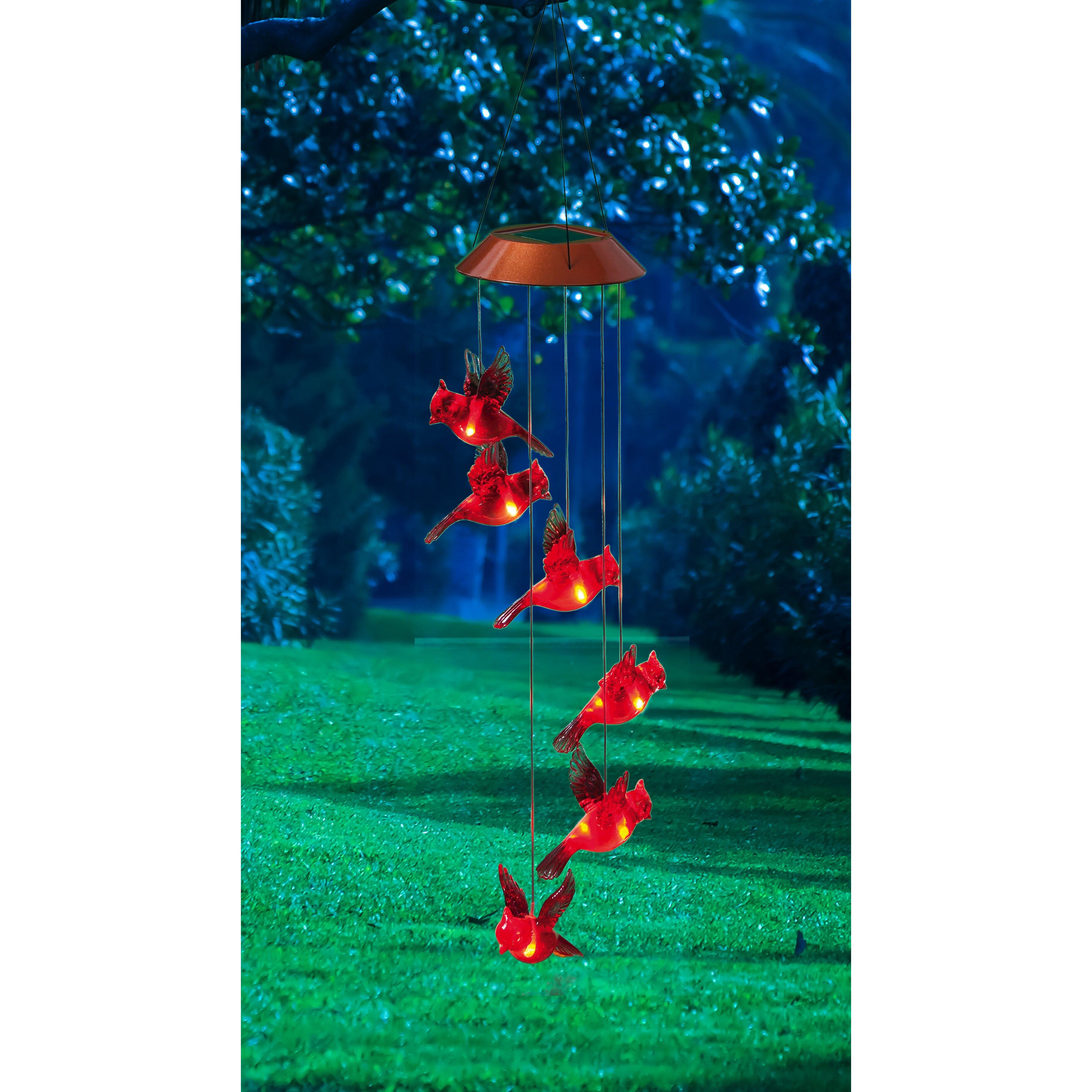Evergreen Flag Garden Garden Days Cardinal Solar Mobile Wind