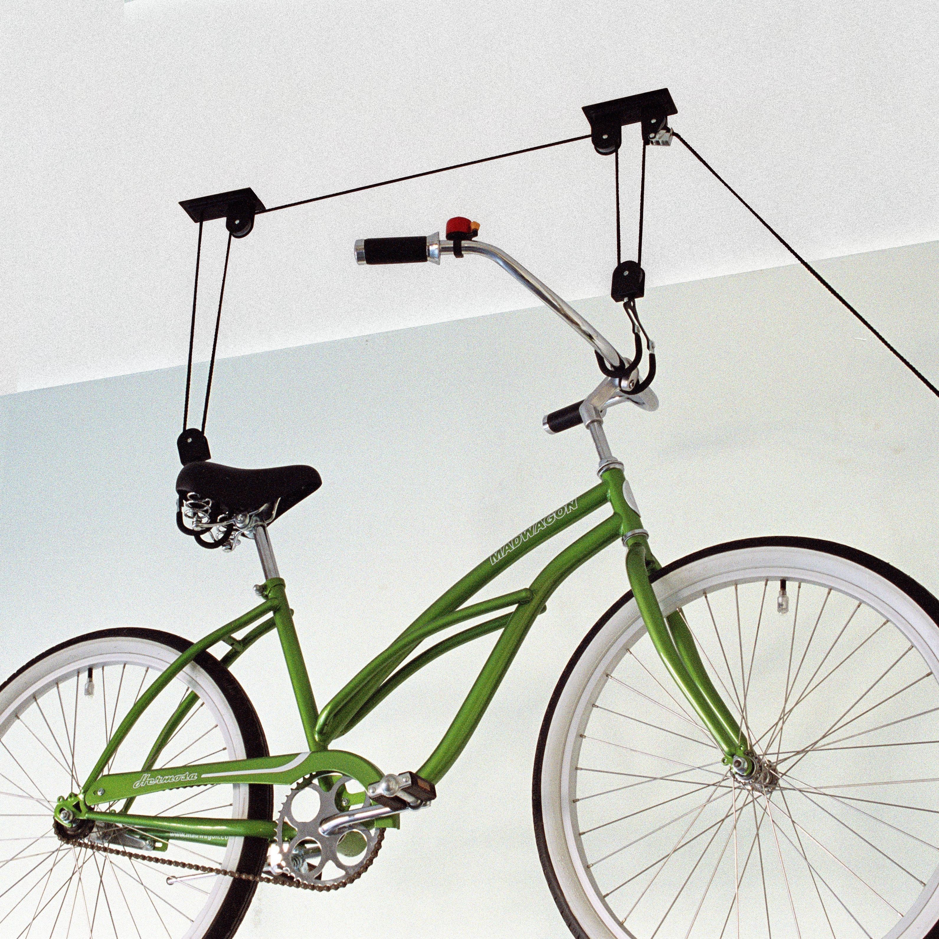 gear up inc black series up and away bike hoist system. Black Bedroom Furniture Sets. Home Design Ideas