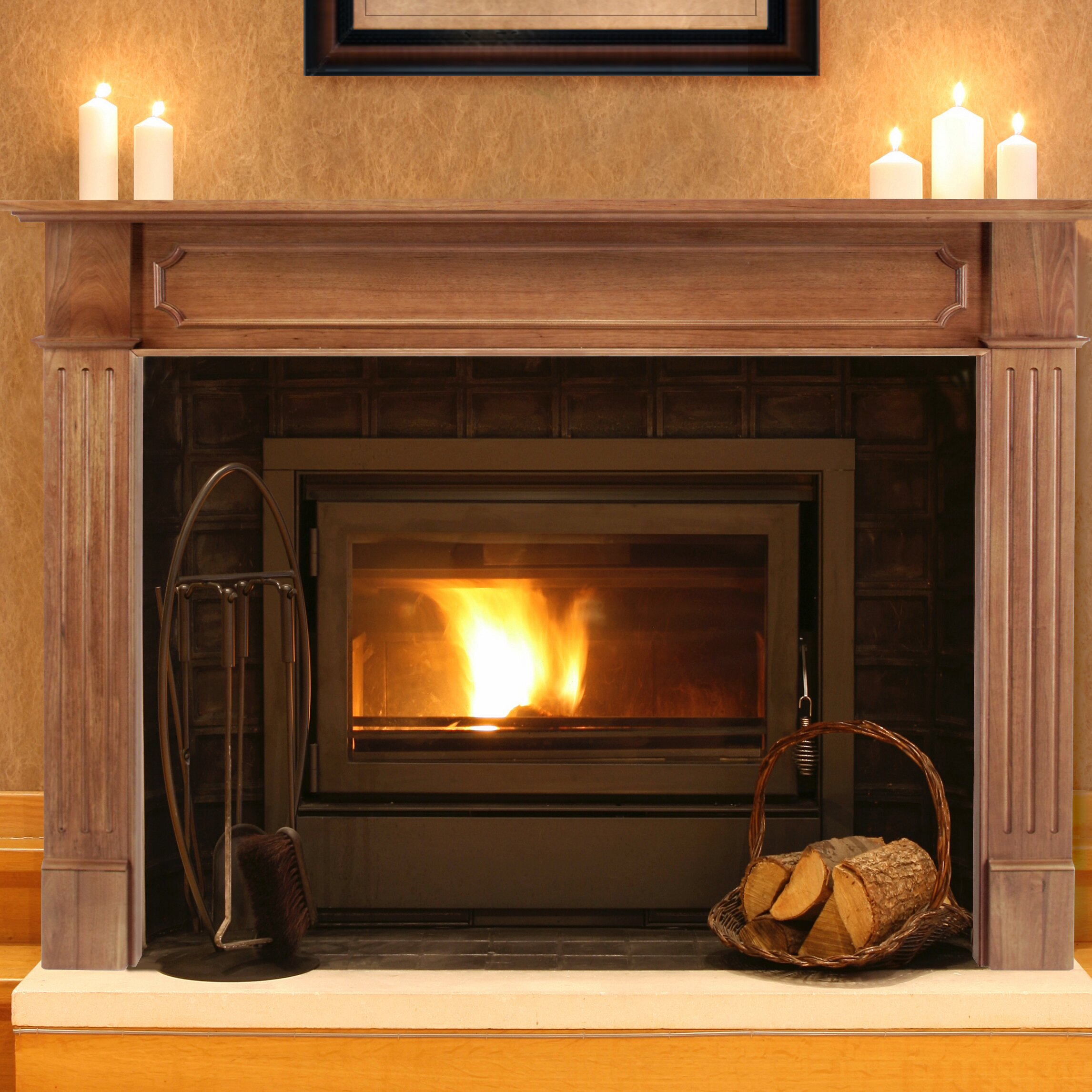 quick view the alamo fireplace mantel surround