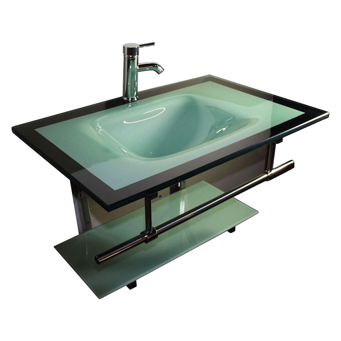 Bathroom Vanity Montreal Kokols 31 Single Floating Bathroom Vanity Set Reviews Wayfair