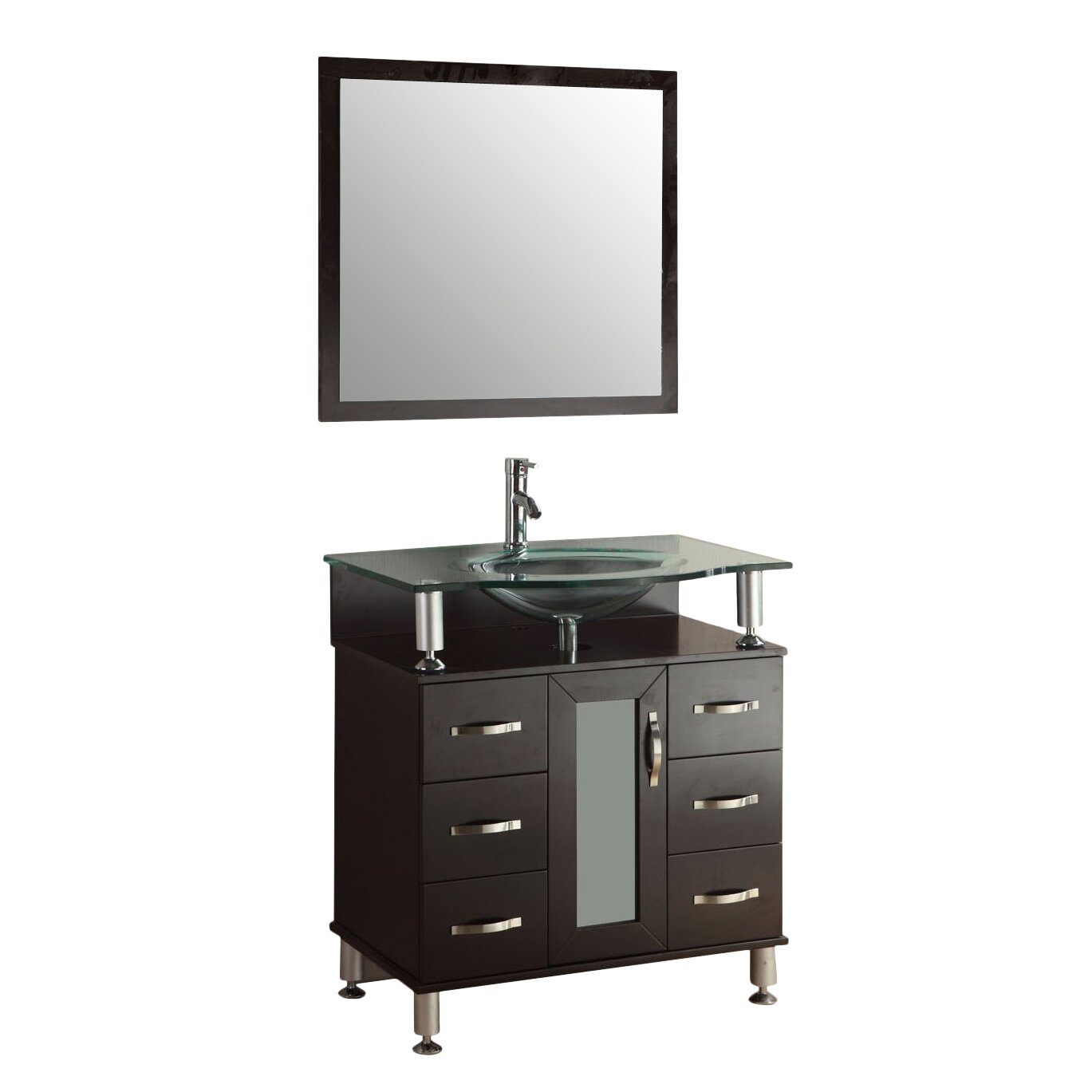 Kokols 36 single bathroom vanity set with mirror reviews wayfair - Kona modern bathroom vanity set ...