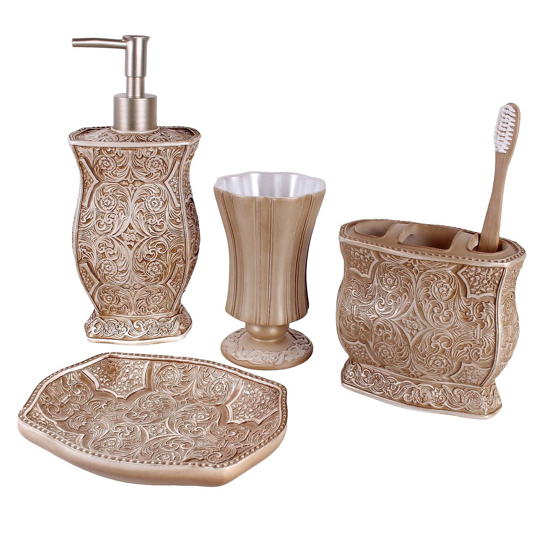 creative scents victoria 4-piece bathroom accessory set & reviews