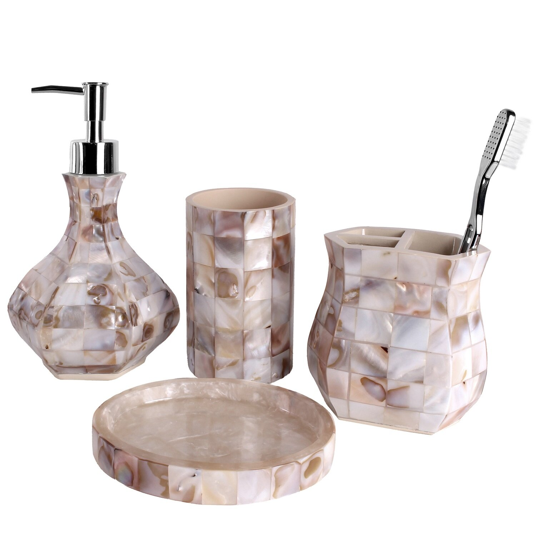 creative scents milano 4-piece bathroom accessory set & reviews