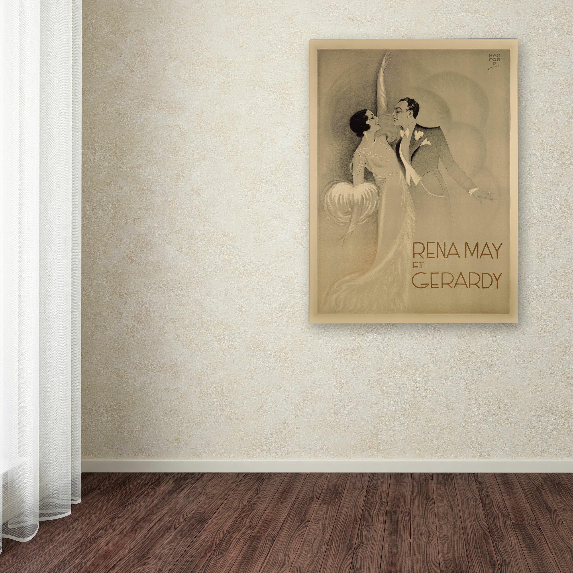 Trademark Art Quot Rena May Et Gerardy Quot Vintage Advertisement