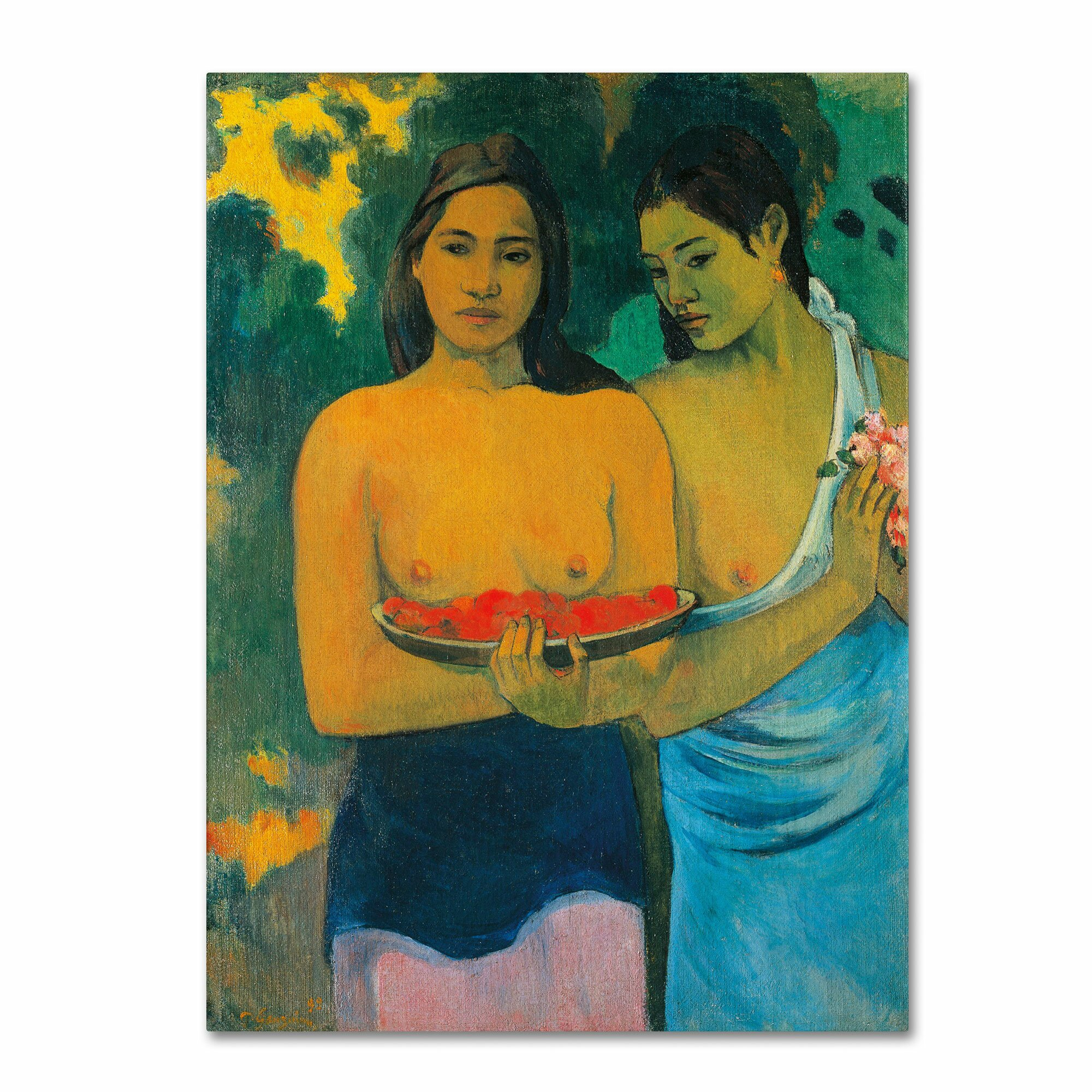 Trademark Art 'Two Tahitian Women 1899' by Paul Gauguin Painting Print on Canvas & Reviews | Wayfair