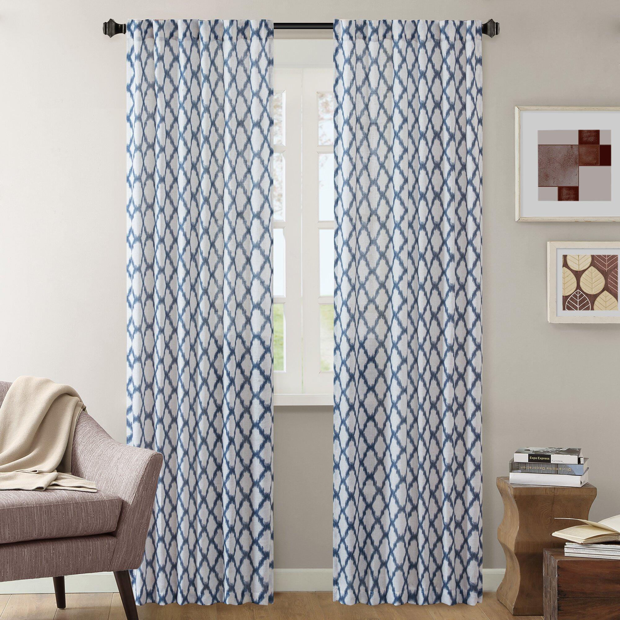 Designer curtain panels - Nakita Single Curtain Panel