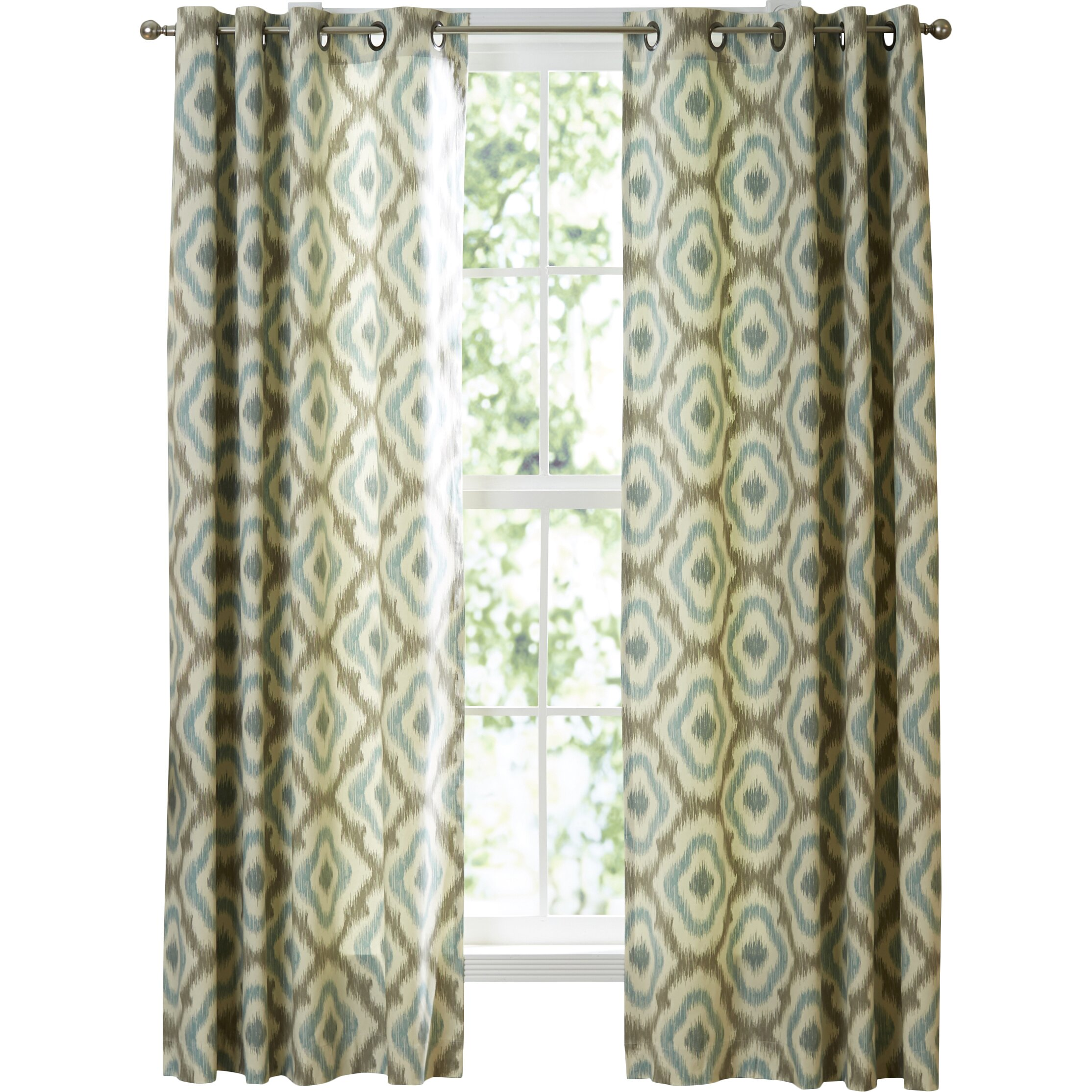 How to make tie top curtains - Ankara Single Curtain Panel