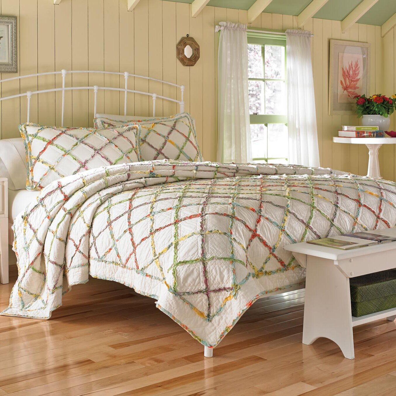 Laura Ashley Bedroom Furniture Ebay Laura Ashley Home Ruffled Garden Quilt Collection Reviews Wayfair