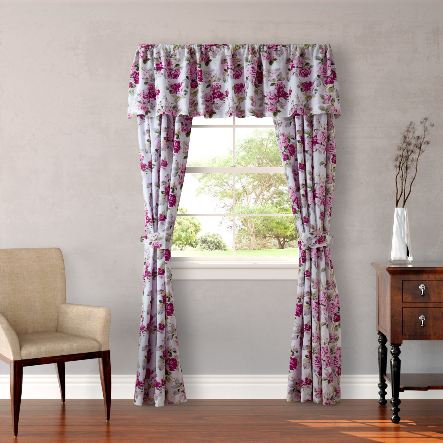 "Laura Ashley Home Lidia 86"" Curtain Valance & Reviews"