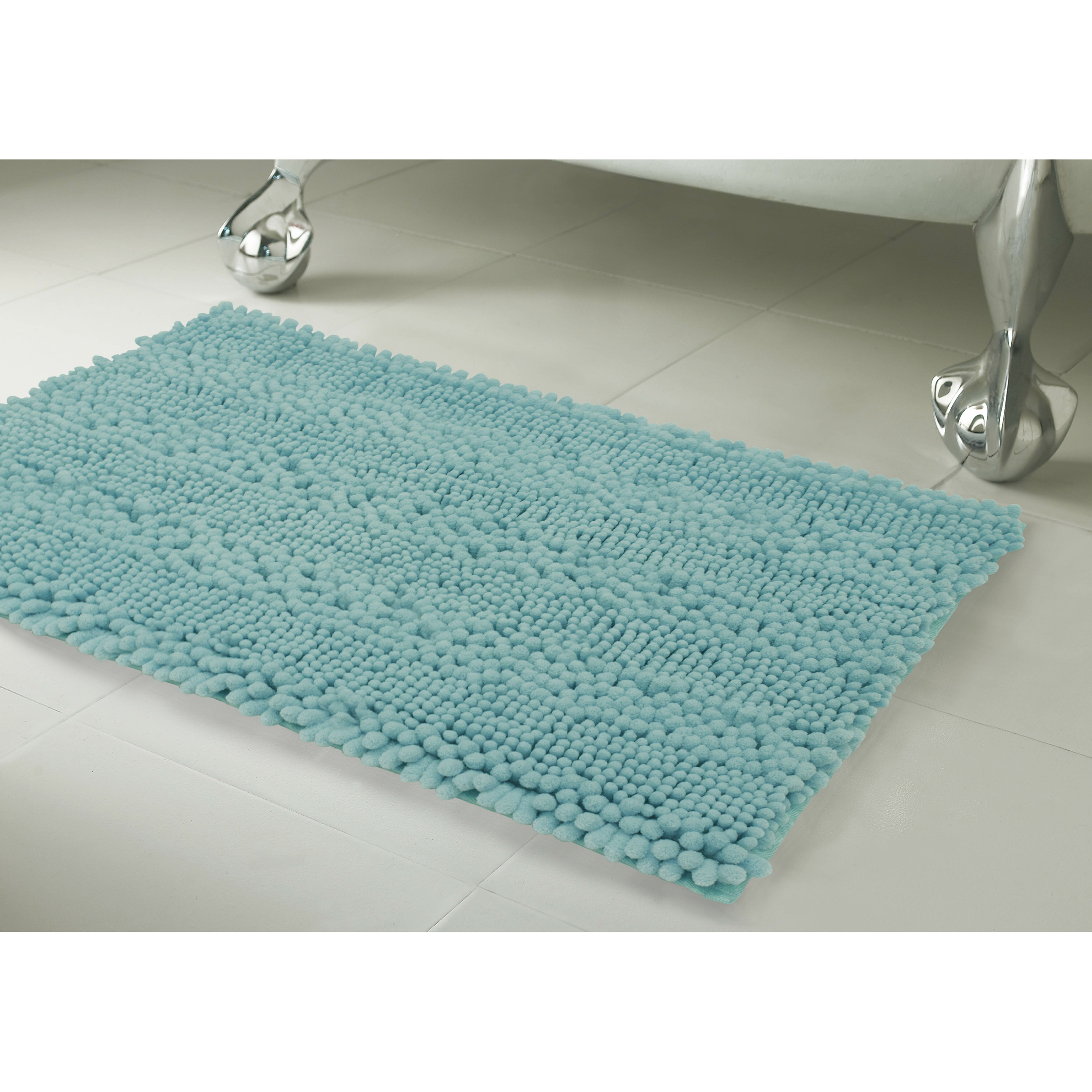 Laura Ashley Home Astor Striped Plush Chenille Bath Mat